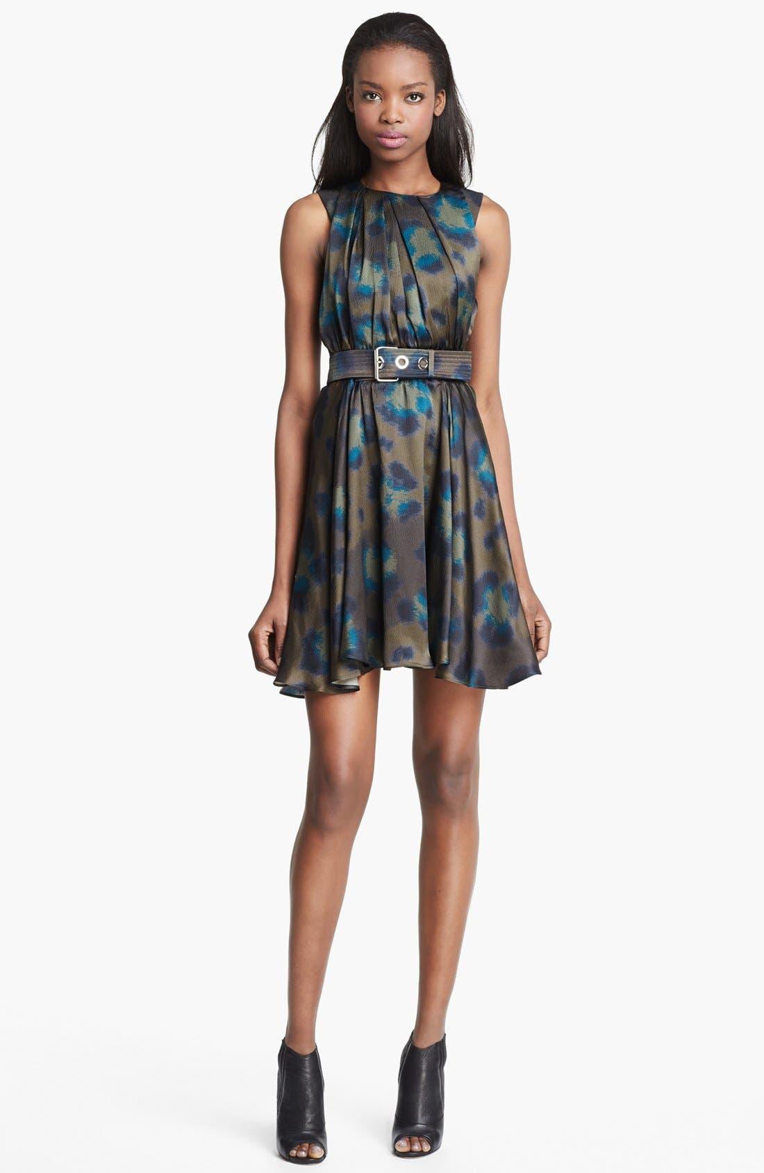 Main Image - KENZO Twist Neck Leopard Print Dress