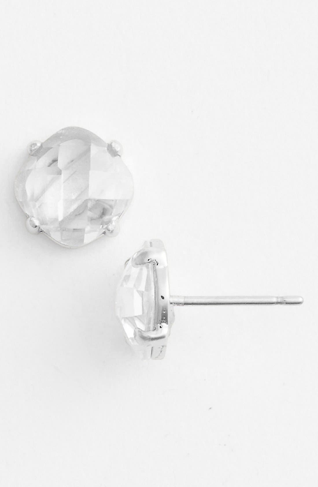 Main Image - Ariella Collection Cushion Cut Stone Stud Earrings (Nordstrom Exclusive)