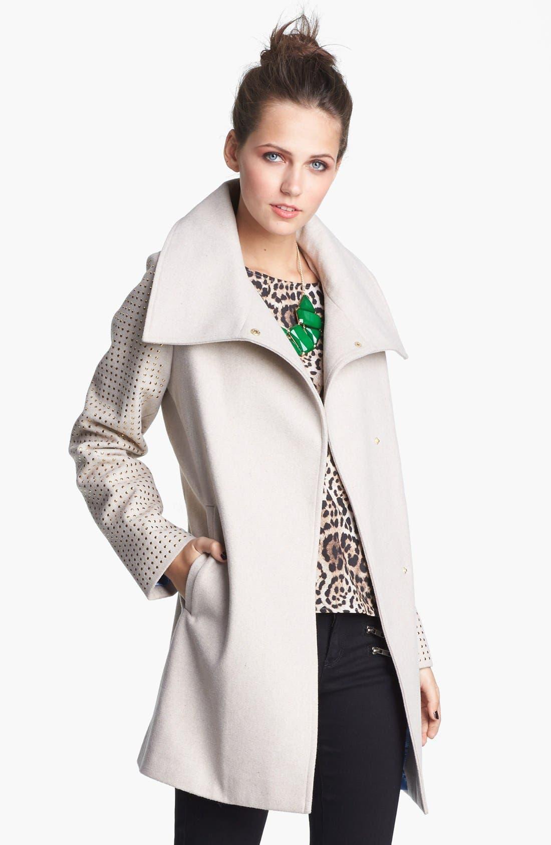 Alternate Image 1 Selected - Jou Jou Studded Coat (Juniors)
