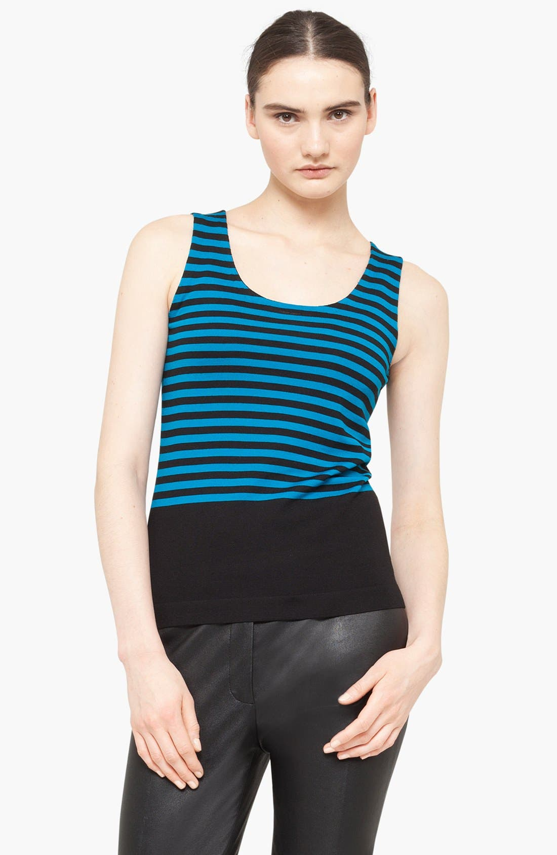 Alternate Image 1 Selected - Akris punto Stripe Wool Tank