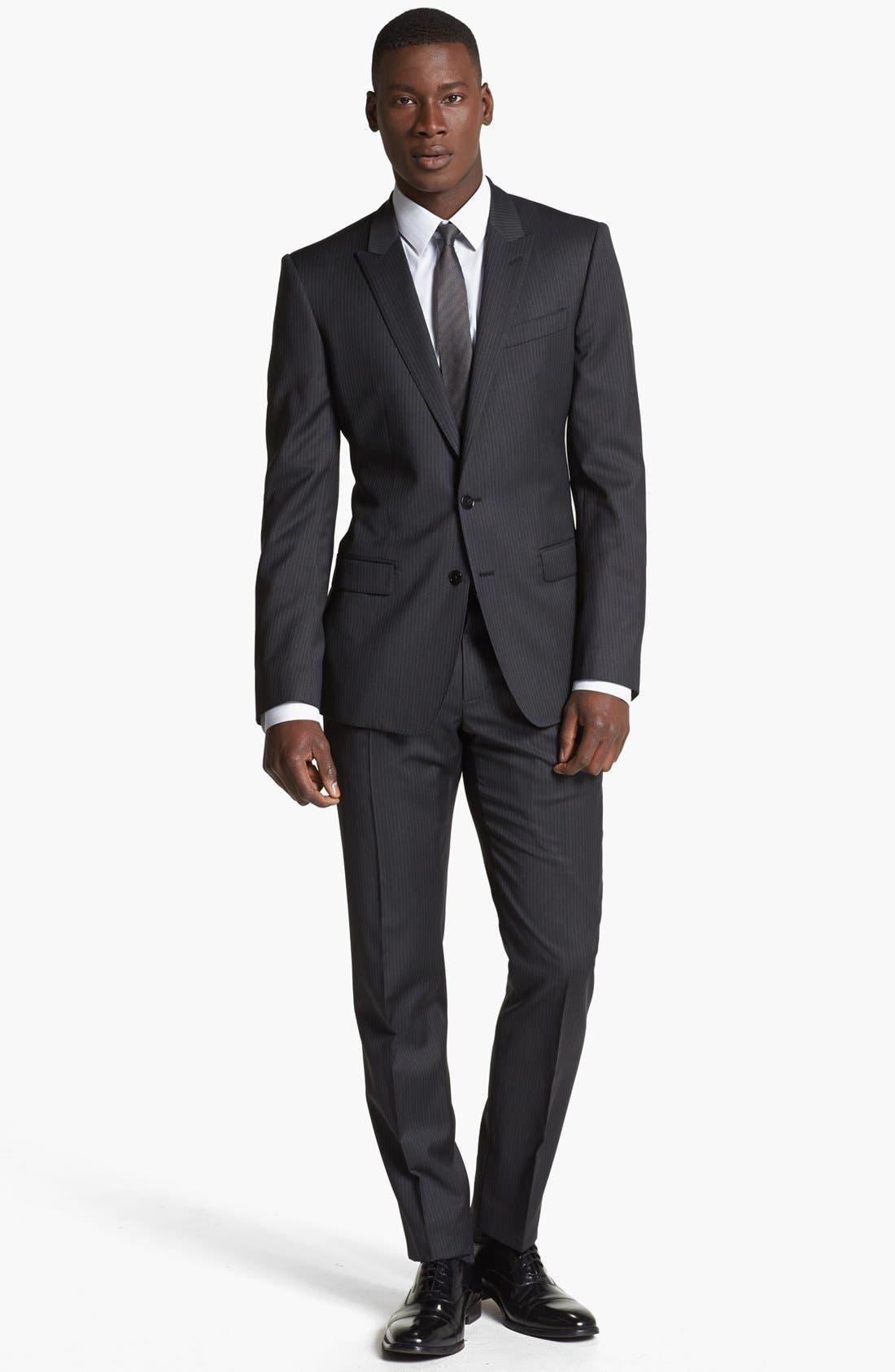 Alternate Image 1 Selected - Dolce&Gabbana 'Martini' Pinstripe Wool Suit