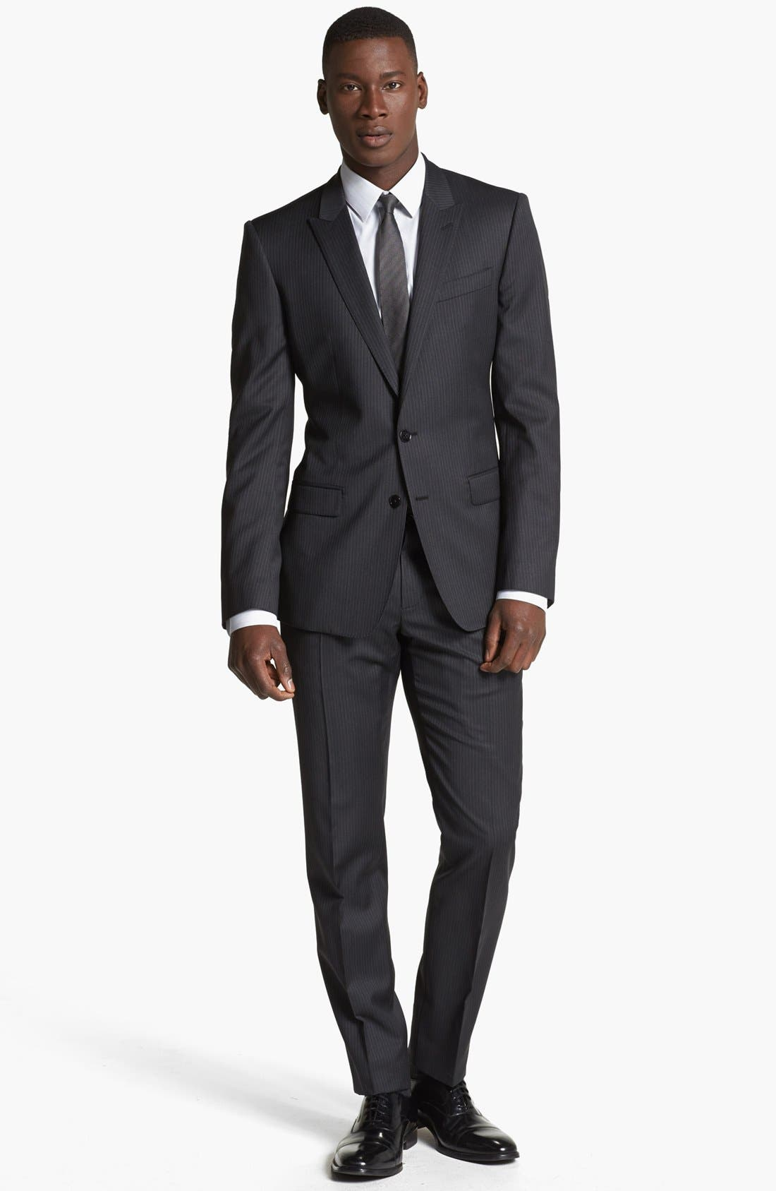 Main Image - Dolce&Gabbana 'Martini' Pinstripe Wool Suit