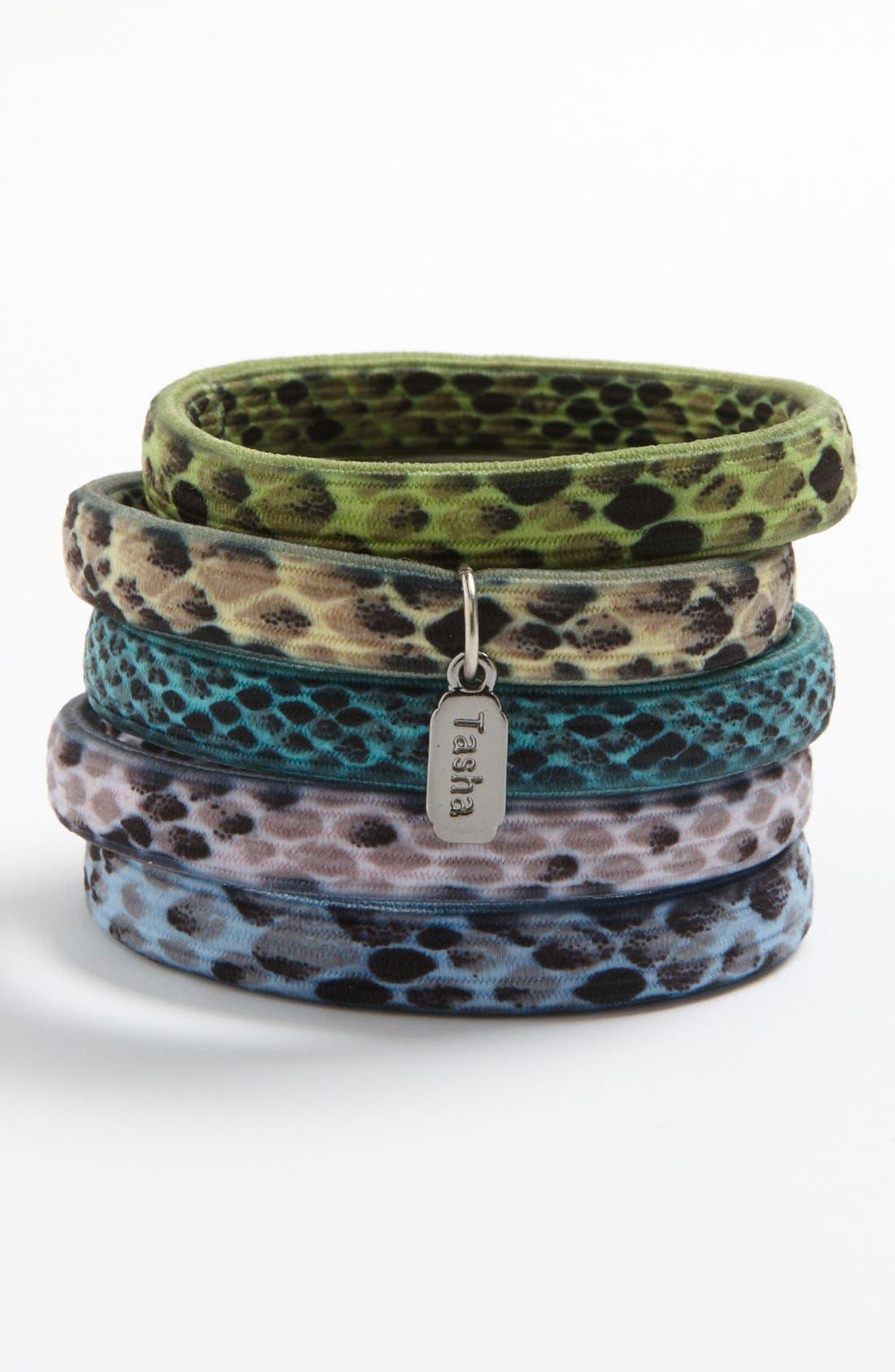 Alternate Image 1 Selected - Tasha 'Snake' Hair Ties (Set of 5)