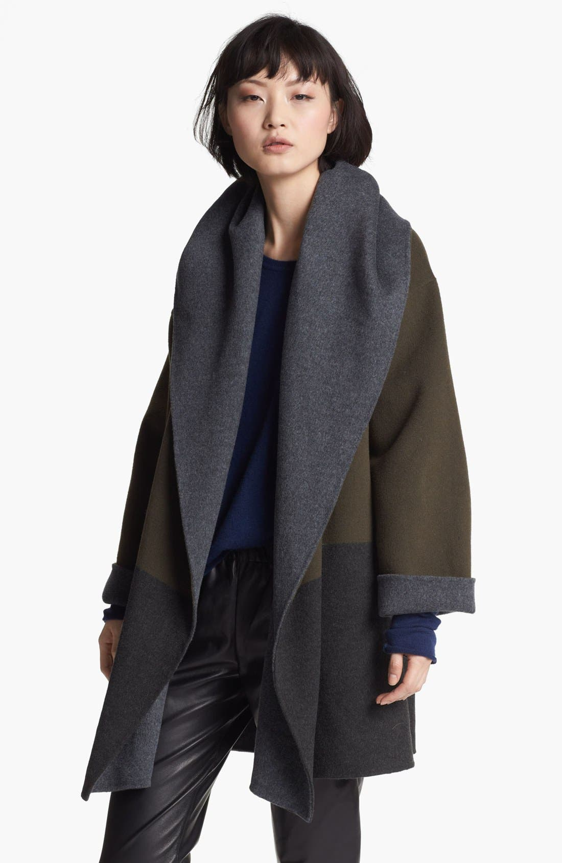 Main Image - Vince Hooded Colorblock Coat