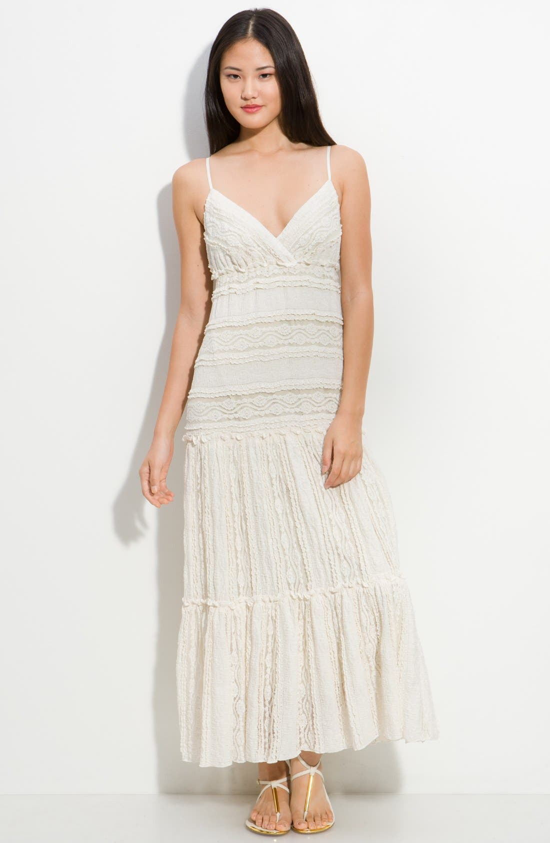 Alternate Image 1 Selected - Eliza J Tiered Lace Maxi Dress