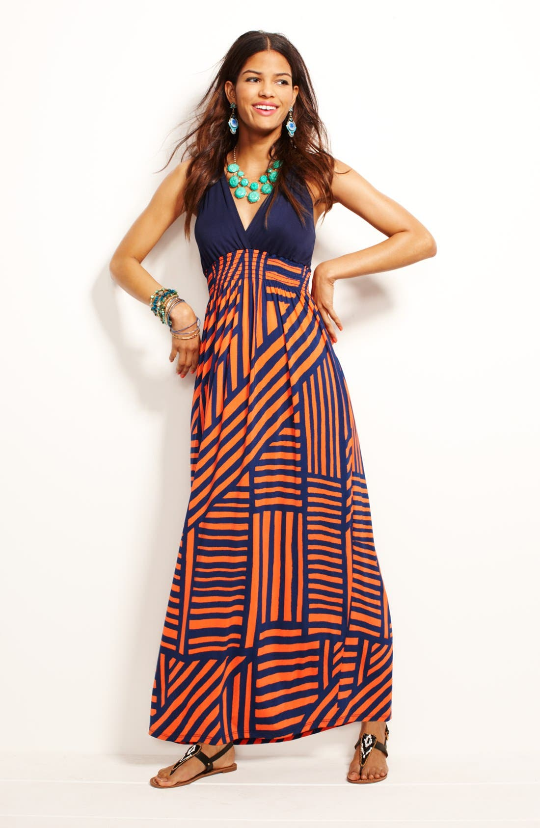 Alternate Image 1 Selected - FELICITY & COCO Maxi Dress & Accessories