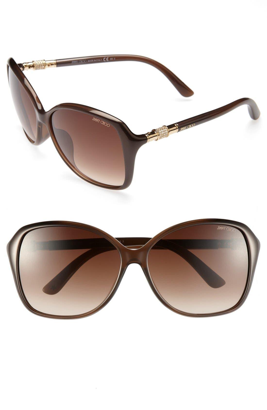 Main Image - Jimmy Choo 60mm Sunglasses