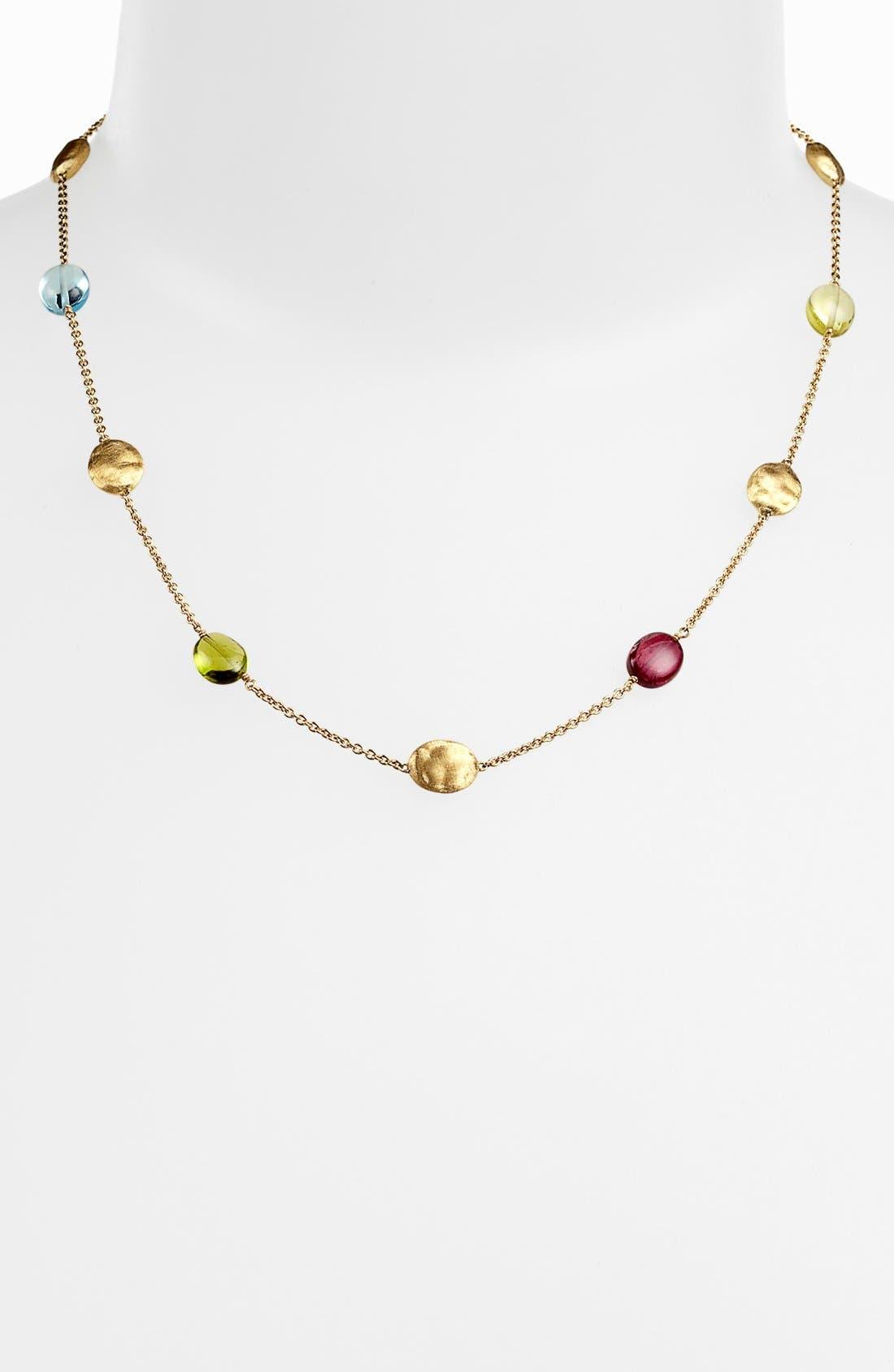 Alternate Image 1 Selected - Marco Bicego 'Siviglia' Semiprecious Station Necklace