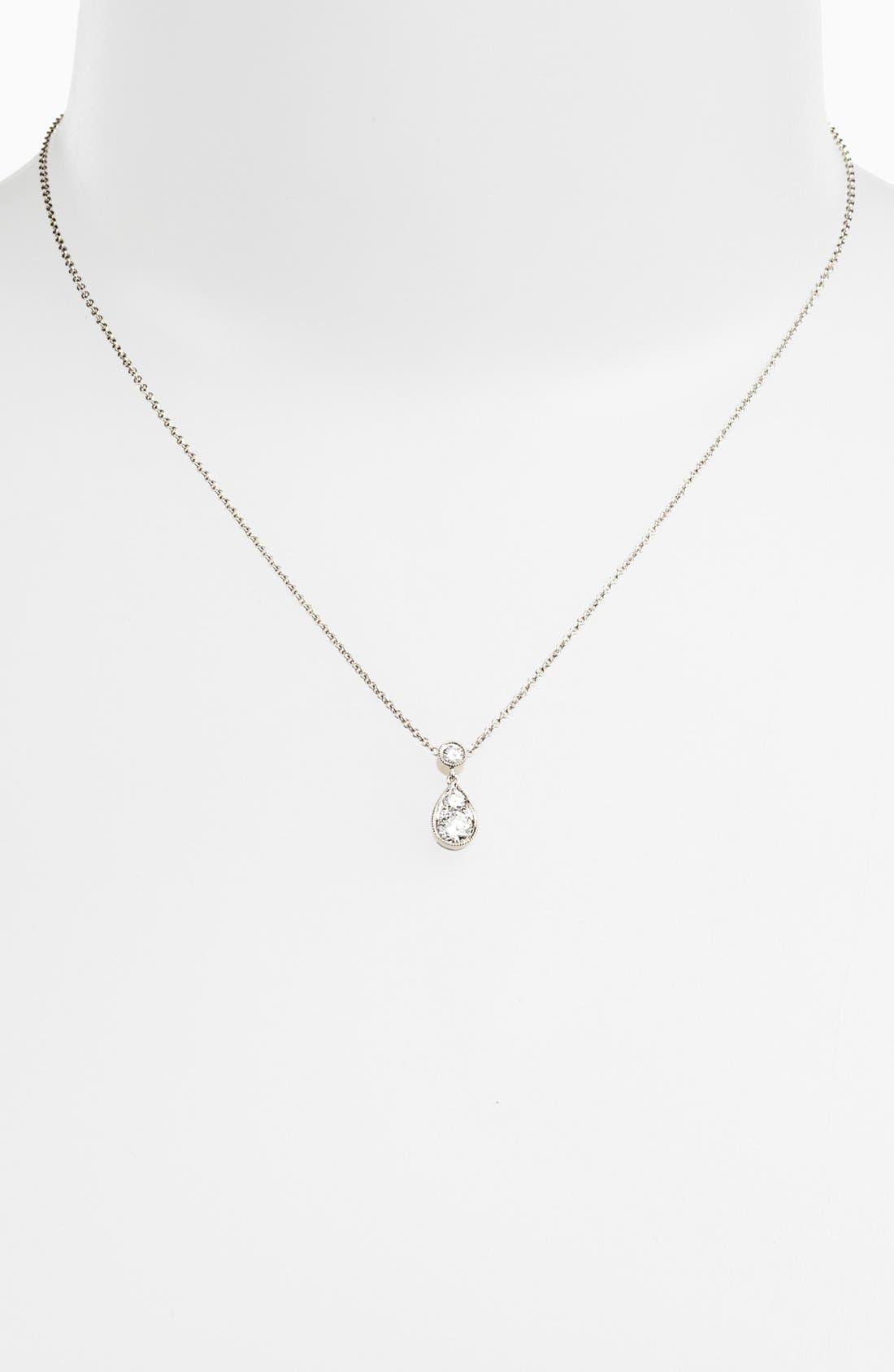 Alternate Image 2  - Kwiat 'Sunburst' Diamond Teardrop Pendant Necklace