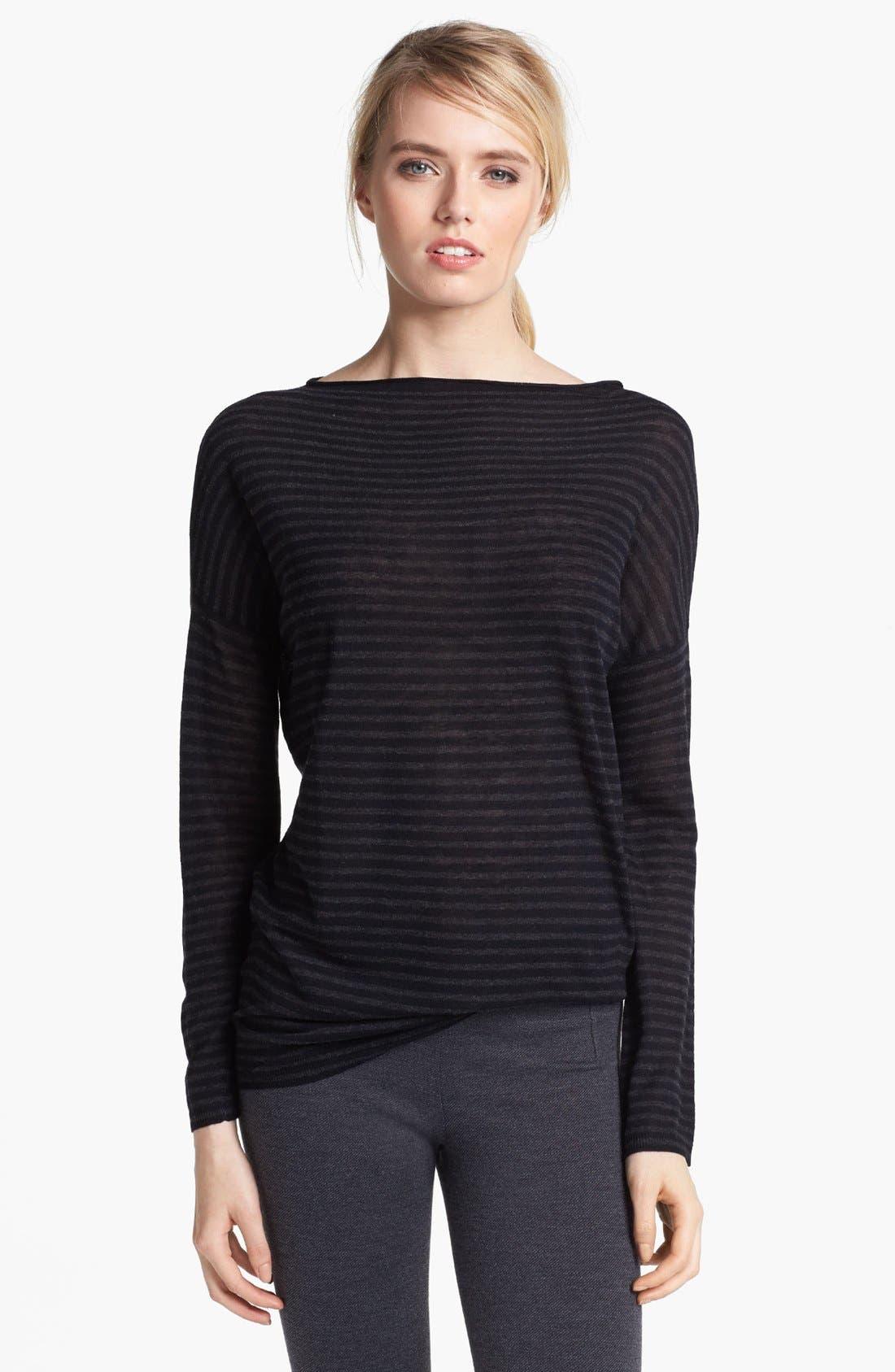 Alternate Image 1 Selected - Vince Stripe Boatneck Sweater
