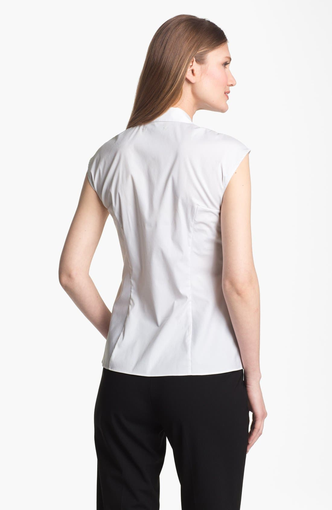 Alternate Image 2  - Lafayette 148 New York 'Excursion Stretch' Short Sleeve Blouse