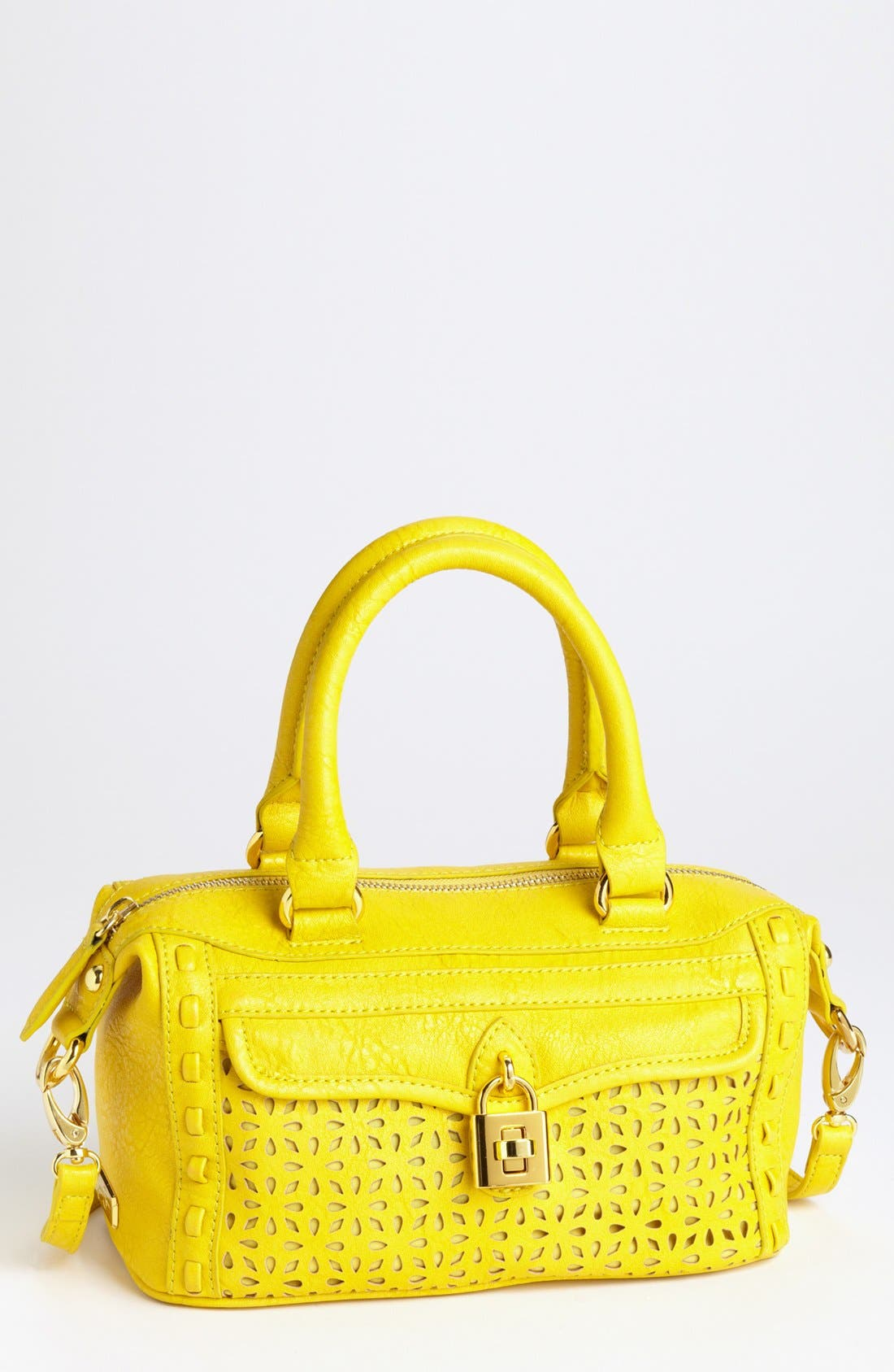 Alternate Image 1 Selected - Jessica Simpson 'Madison - Mini' Faux Leather Satchel