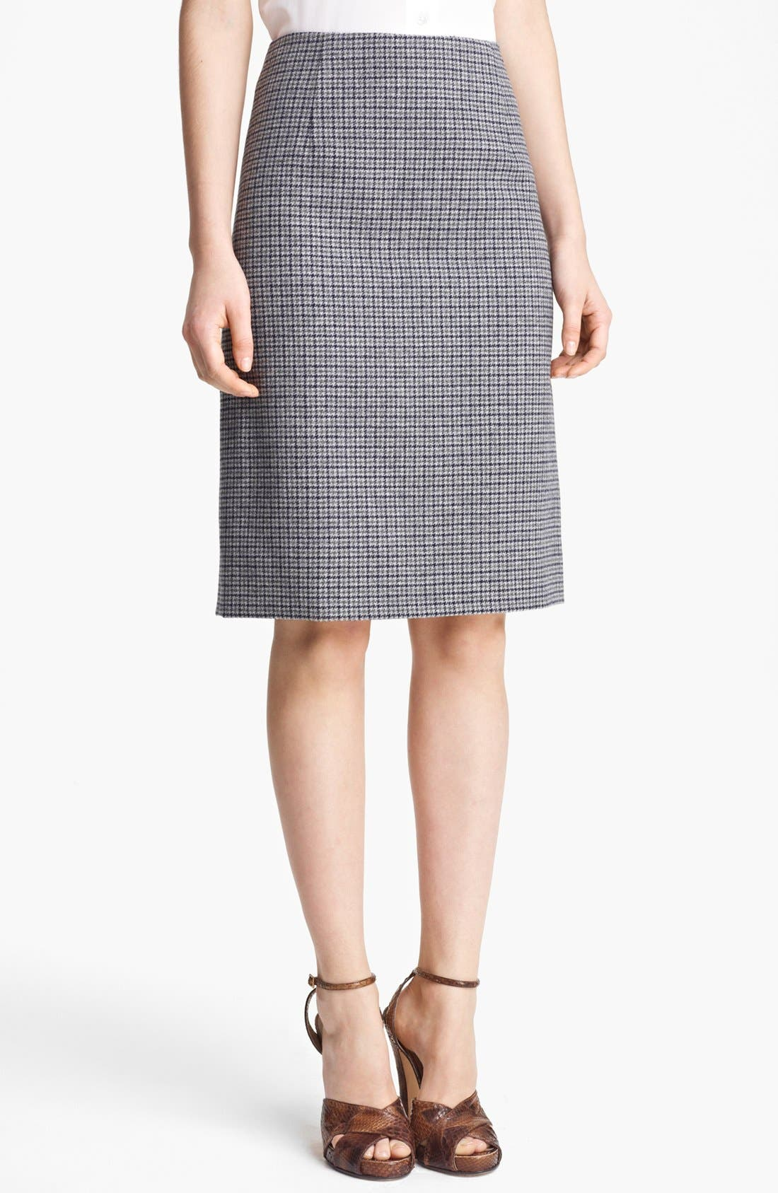 Main Image - MARC JACOBS Wool Houndstooth Pencil Skirt