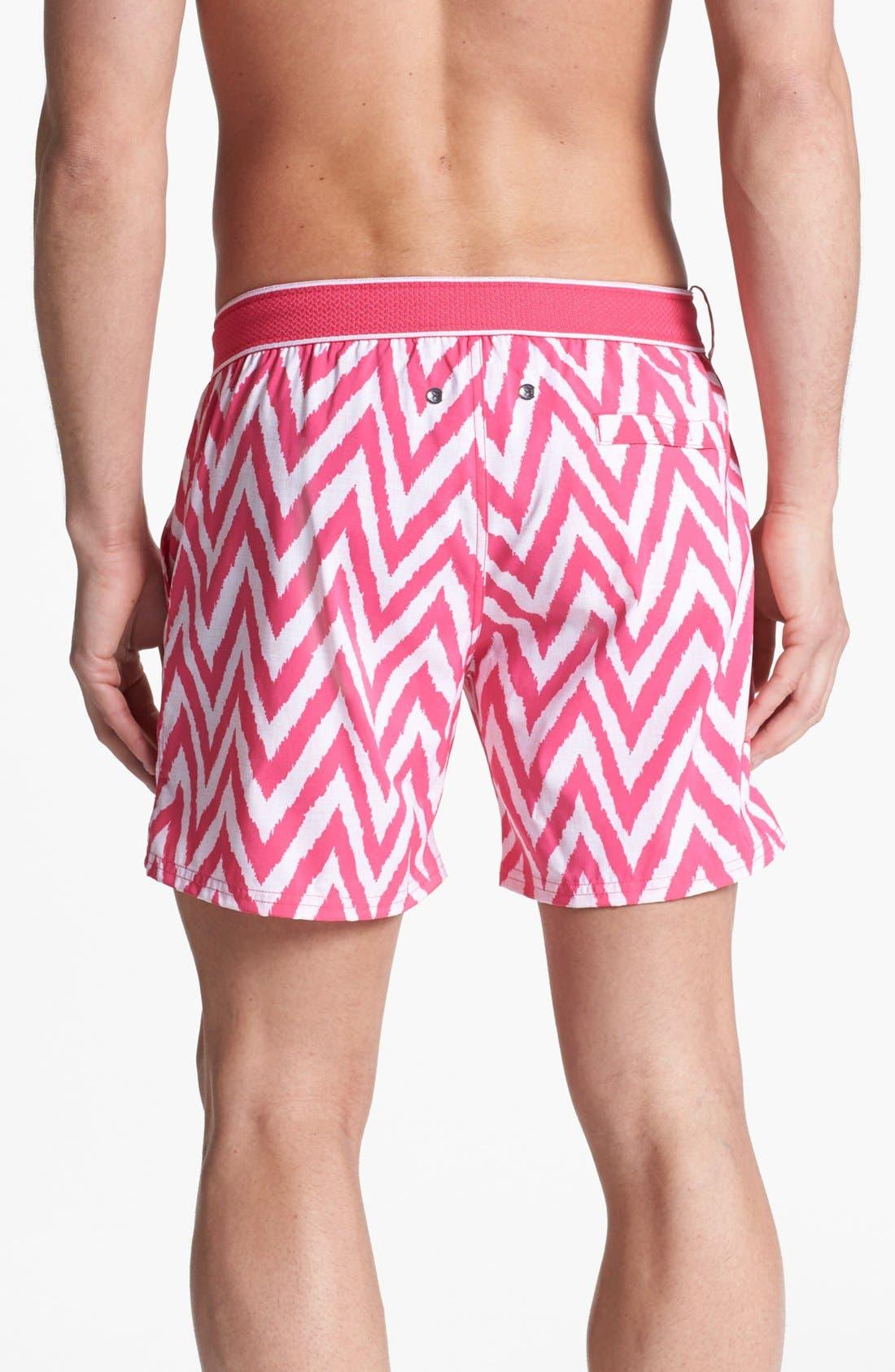 Alternate Image 2  - 2(x)ist 'Hampton' Zigzag Swim Trunks