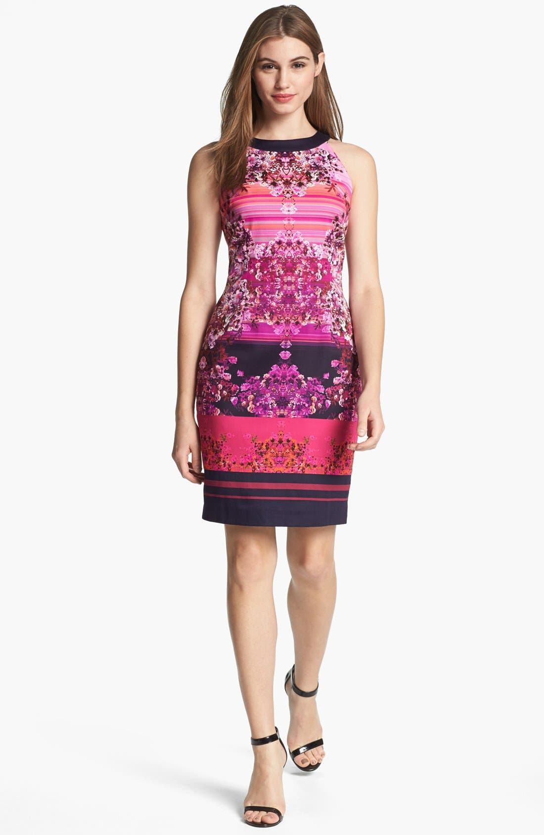 Alternate Image 1 Selected - Adrianna Papell Digital Print Dress