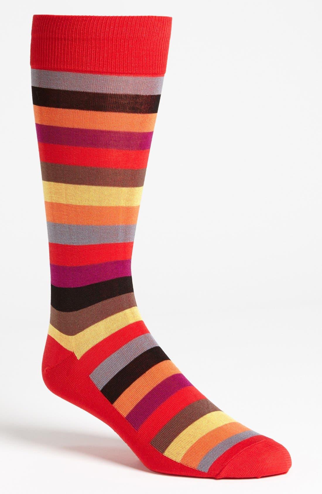 Alternate Image 1 Selected - Hot Sox Stripe Socks