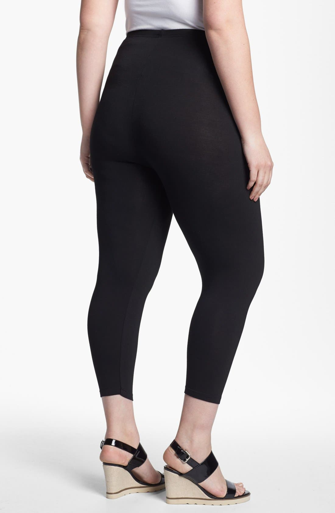 Alternate Image 2  - Evans Ankle Leggings (Plus Size)