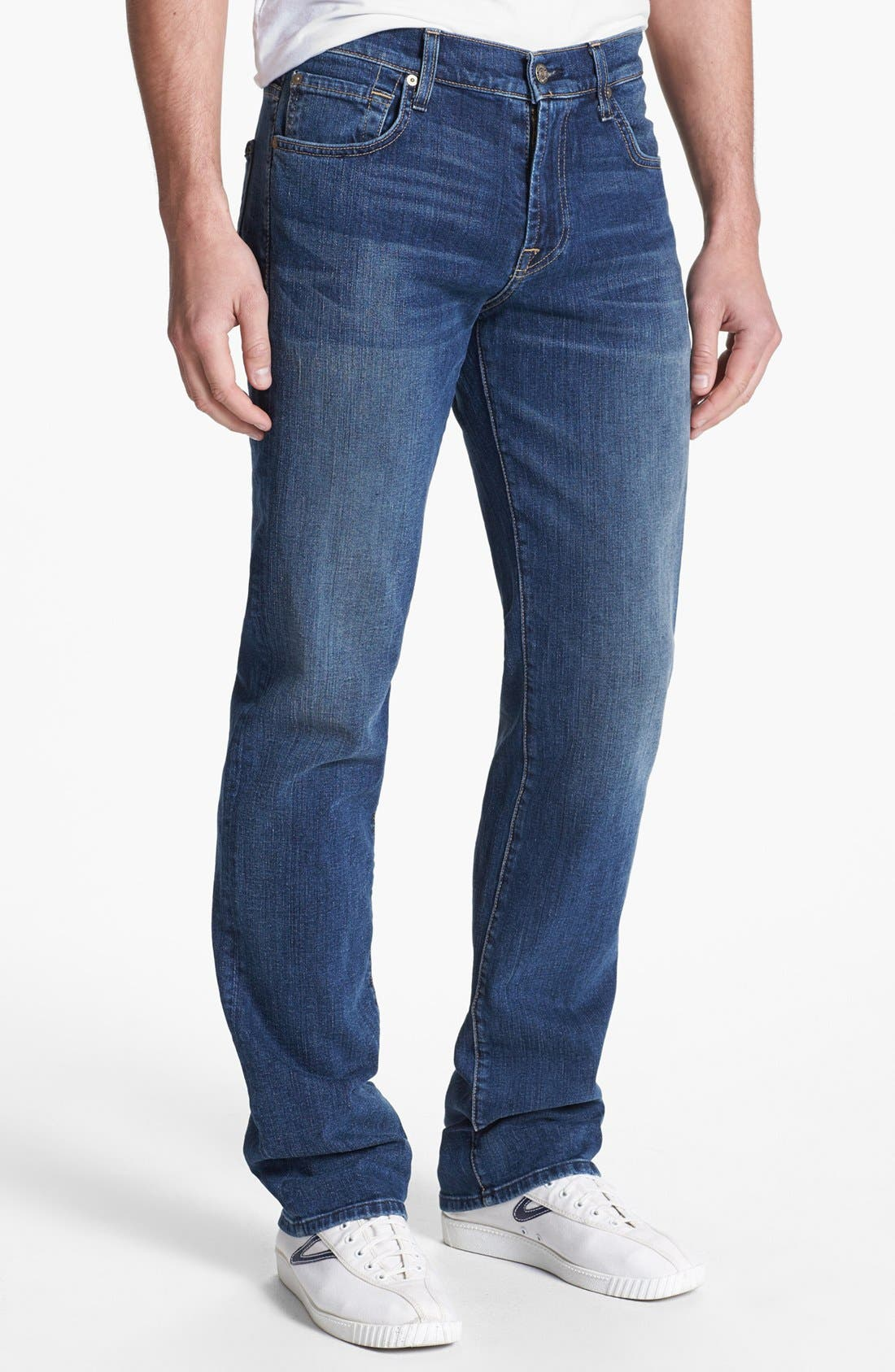 Alternate Image 2  - 7 For All Mankind® 'Carsen' Straight Leg Jeans (Tinted Authentic)