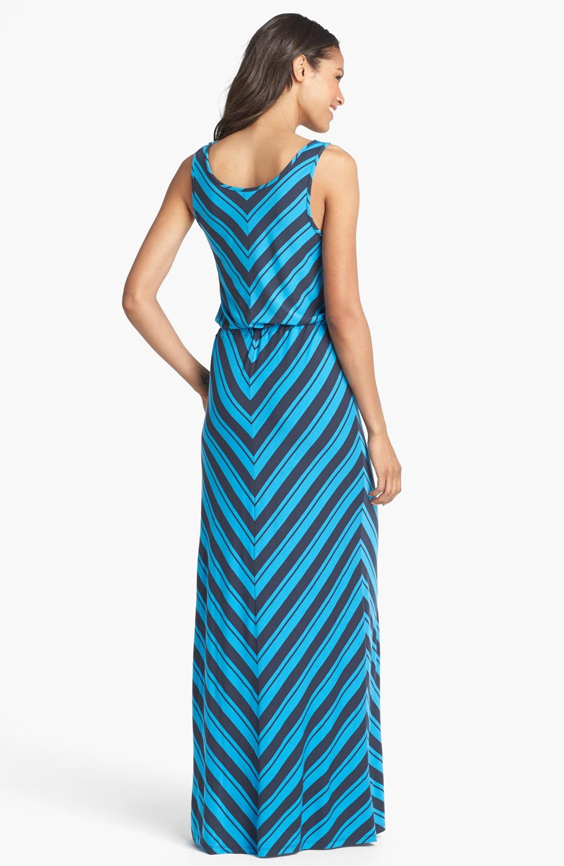 Alternate Image 2  - Caslon® Mitered Stripe Maxi Dress
