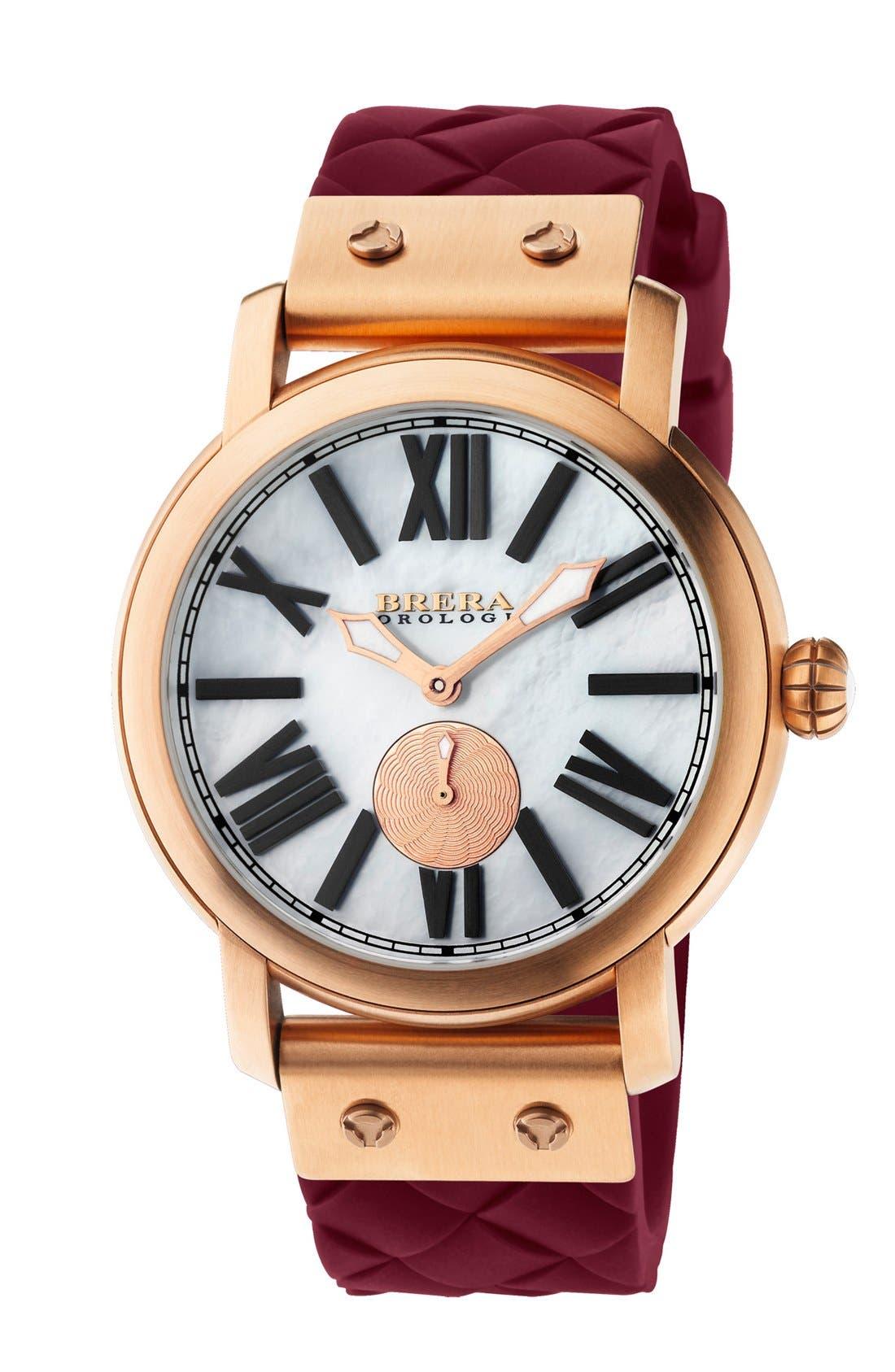 Alternate Image 1 Selected - Brera 'Valentina' Silicone Strap Watch, 42mm