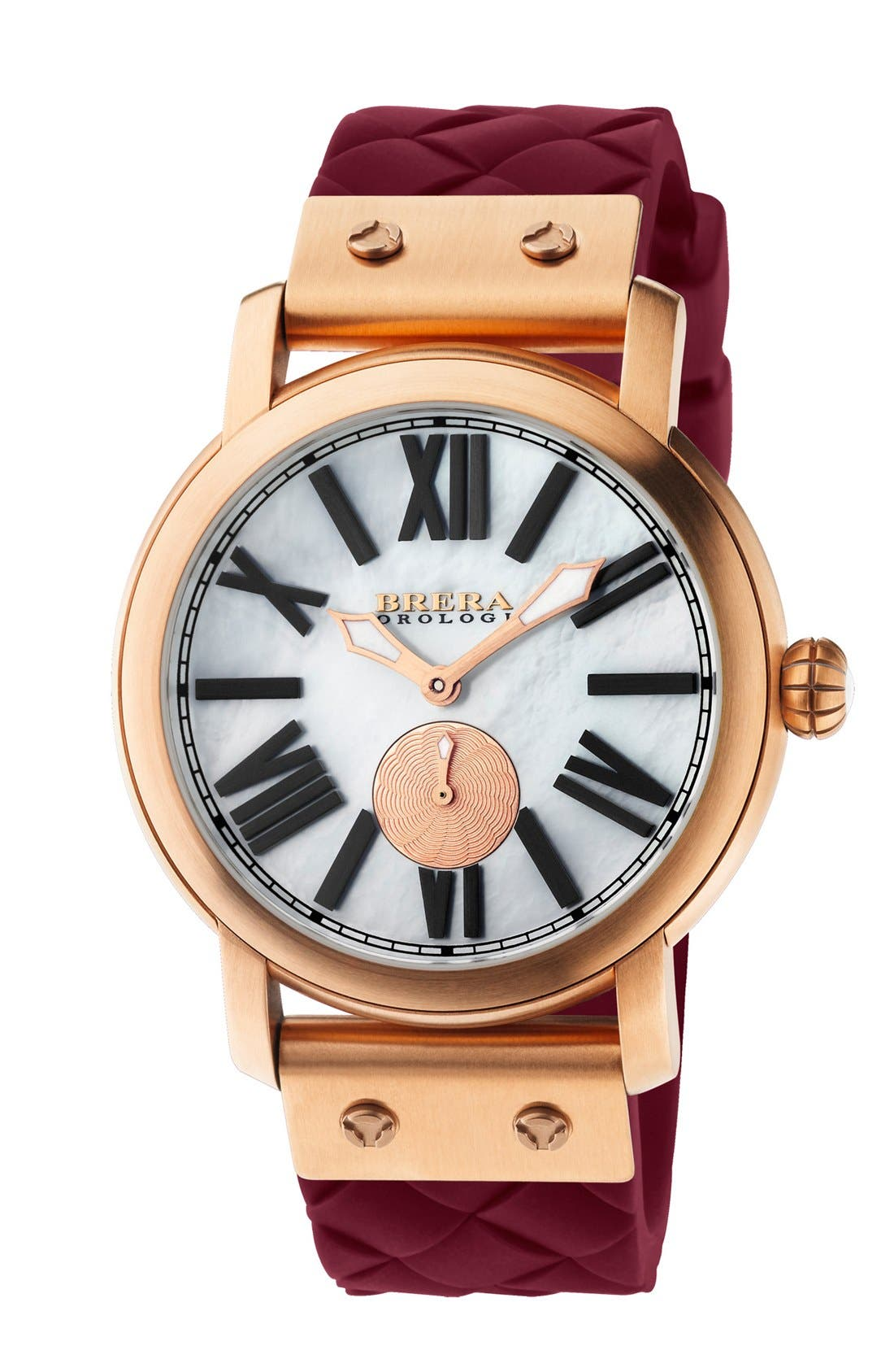 Main Image - Brera 'Valentina' Silicone Strap Watch, 42mm