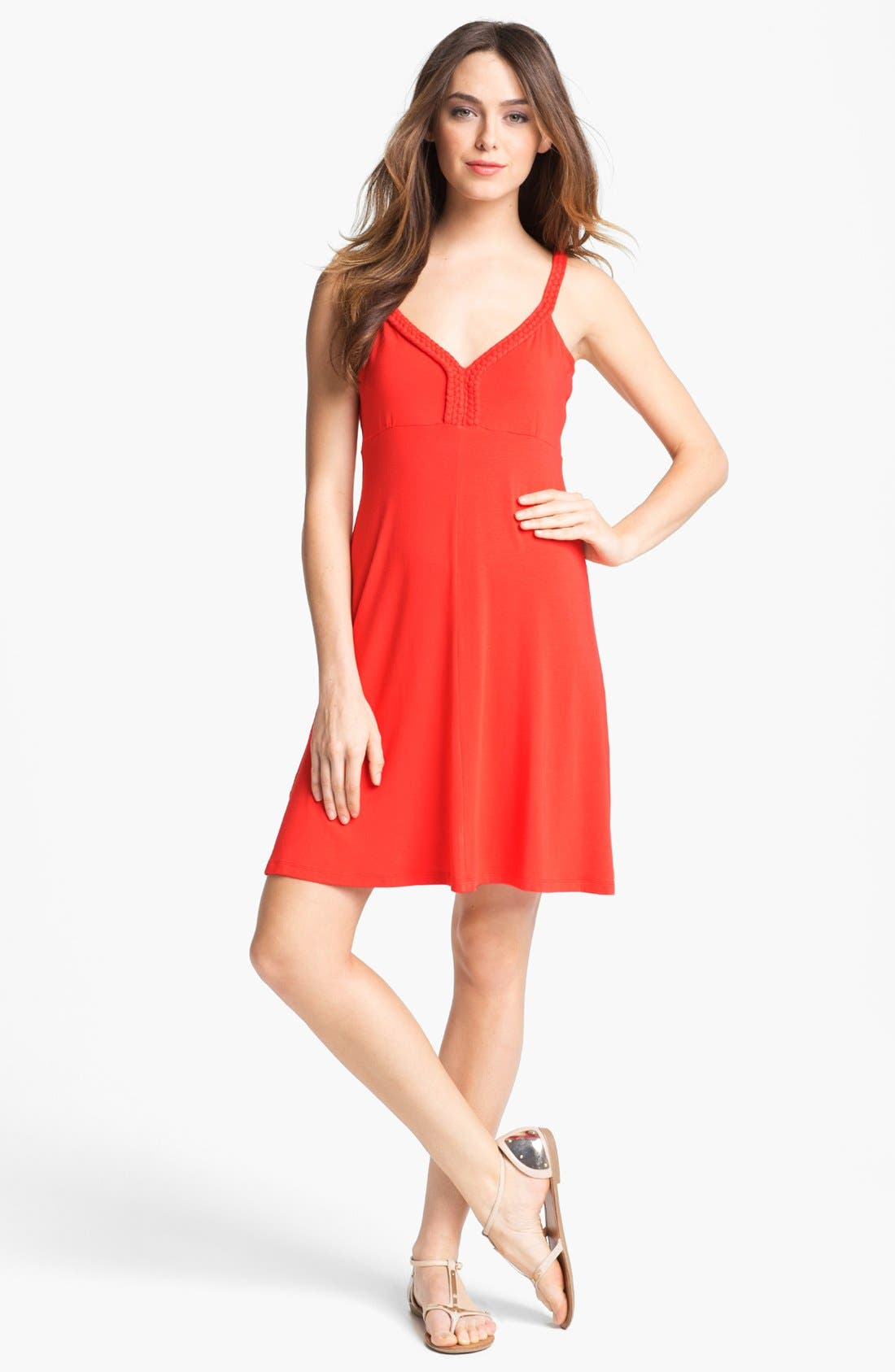 Alternate Image 1  - Calvin Klein Sleeveless A-Line Dress