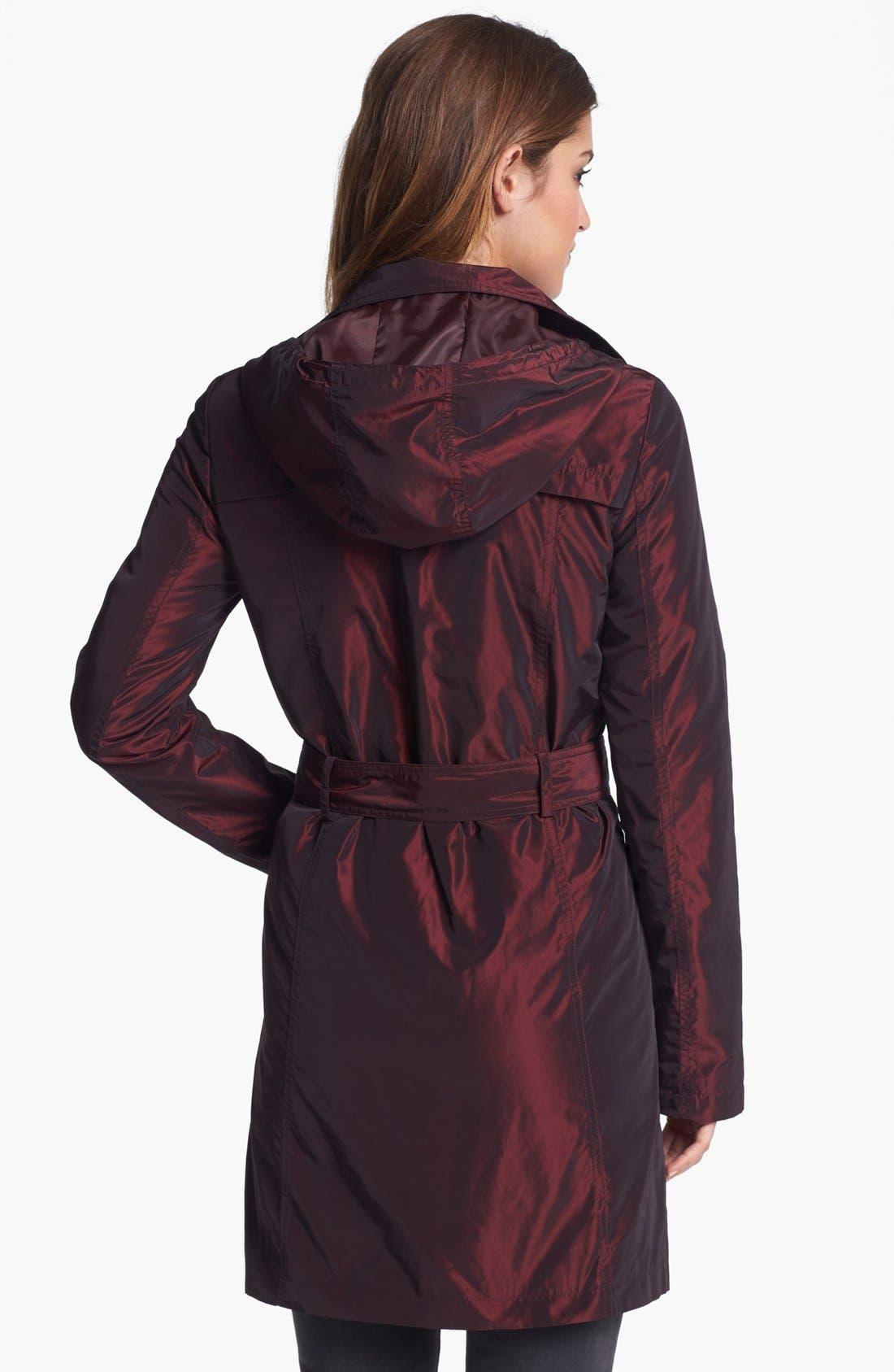 Alternate Image 2  - Ellen Tracy Iridescent Packable Trench Coat