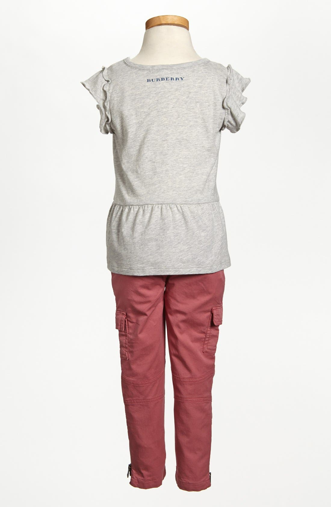 Alternate Image 3  - Burberry 'Cloudy' Peplum Ruffle Top (Toddler Girls, Little Girls & Big Girls)