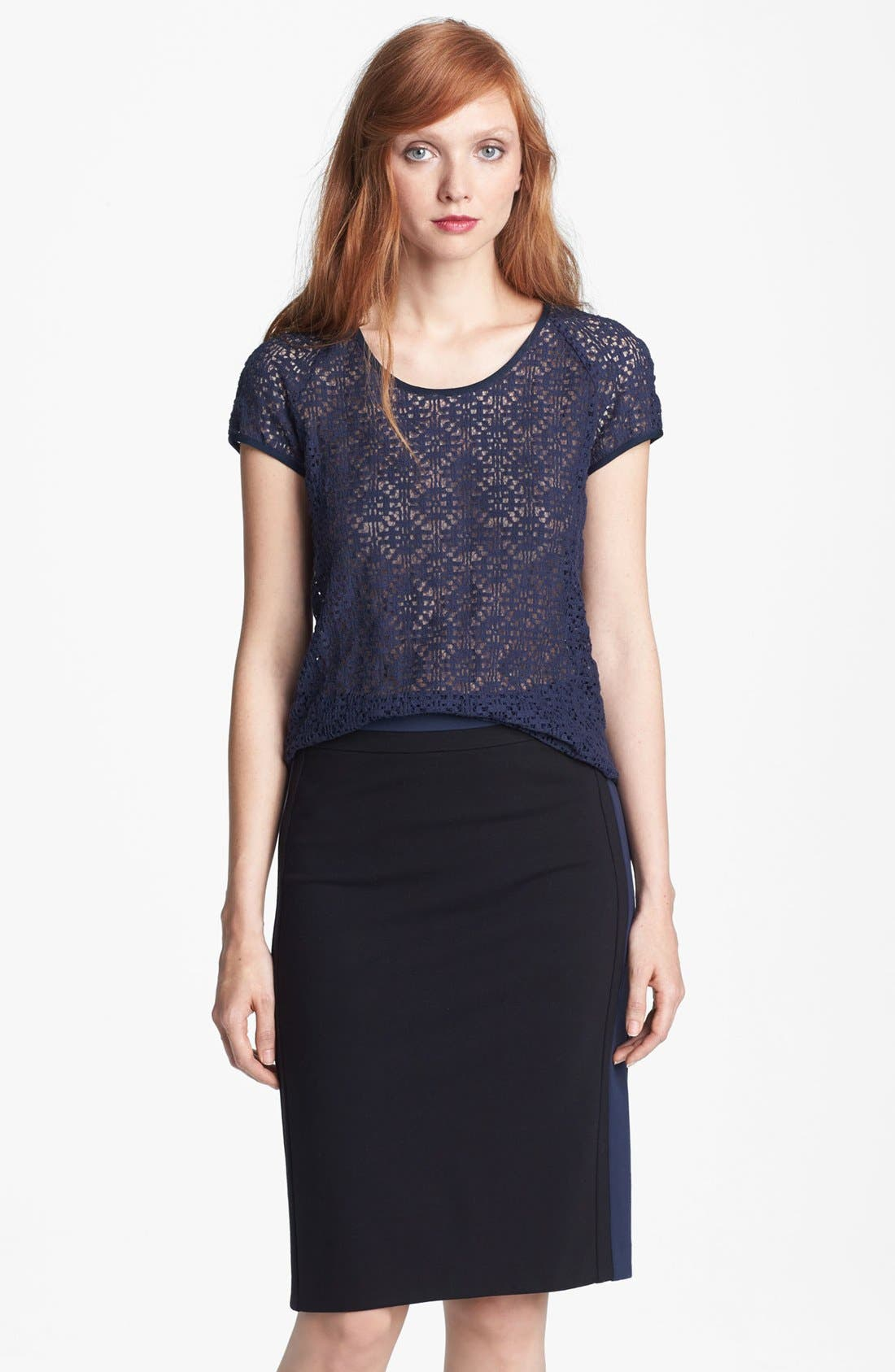 Alternate Image 1 Selected - Diane von Furstenberg 'Liva' Lace Top
