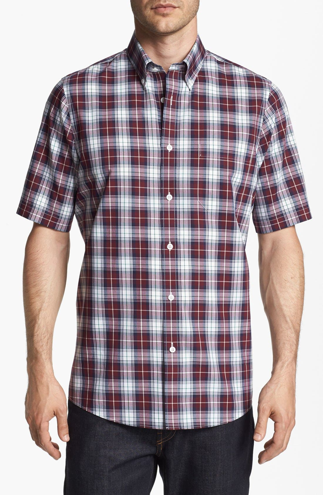 Main Image - Nordstrom Smartcare™ Regular Fit Poplin Sport Shirt