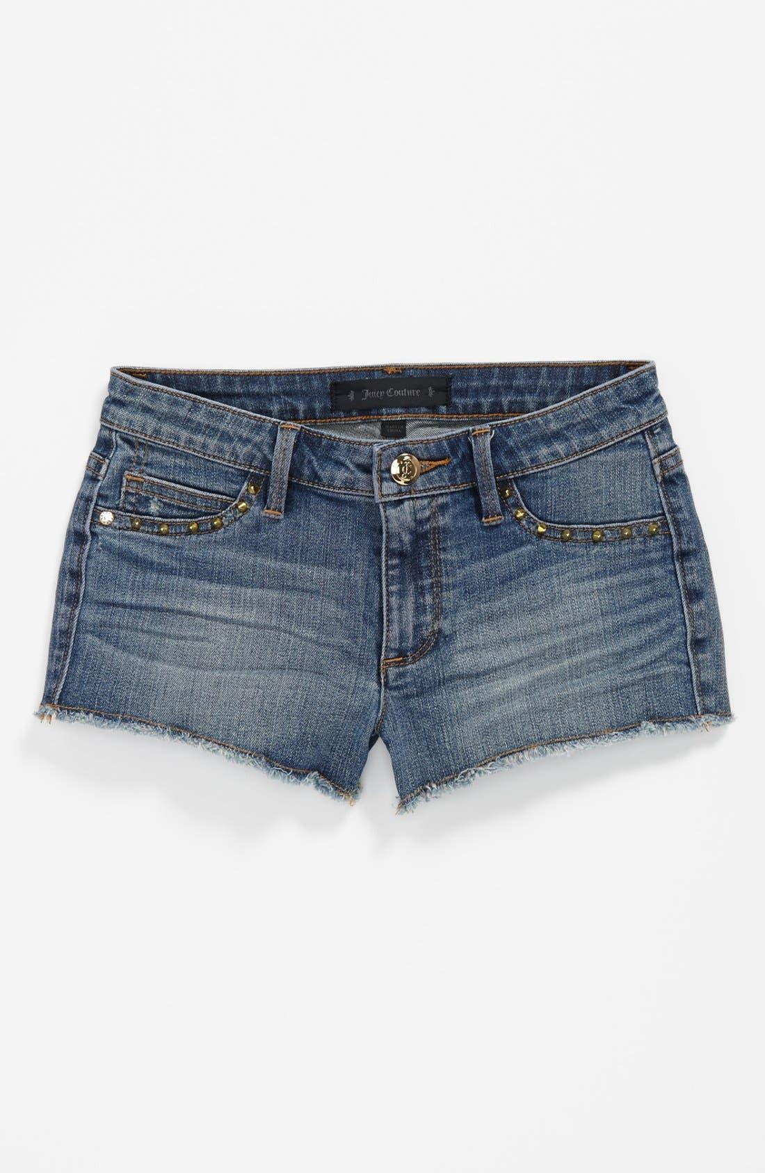 Alternate Image 2  - Juicy Couture 'Core' Denim Cutoff Shorts (Big Girls)