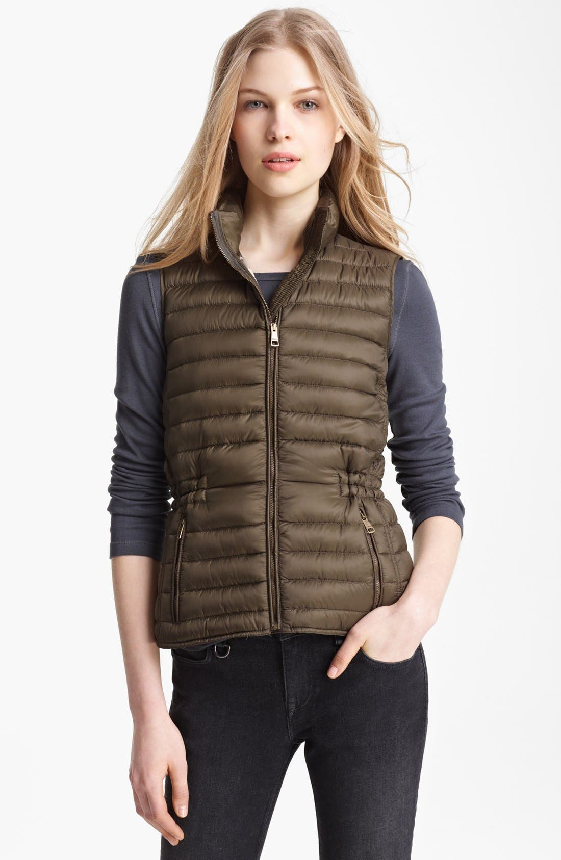 Alternate Image 1 Selected - Burberry Brit 'Cranmore' Goose Down Vest