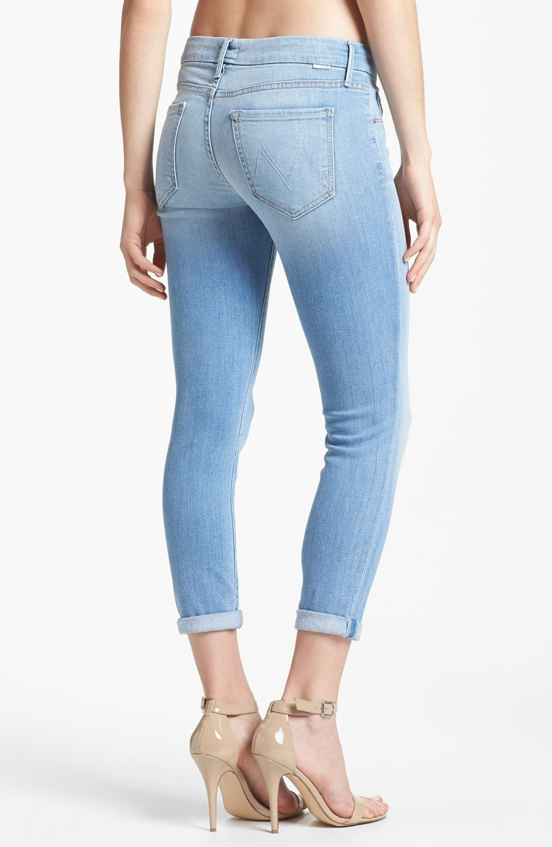Alternate Image 2  - MOTHER 'The Looker' Crop Skinny Jeans (Light Kitty)