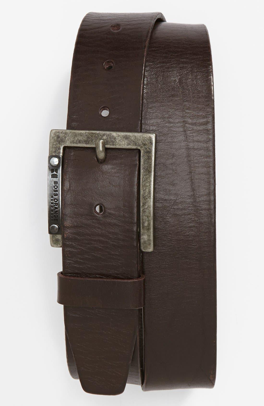 Alternate Image 1 Selected - BOSS Orange 'Jarly' Leather Belt