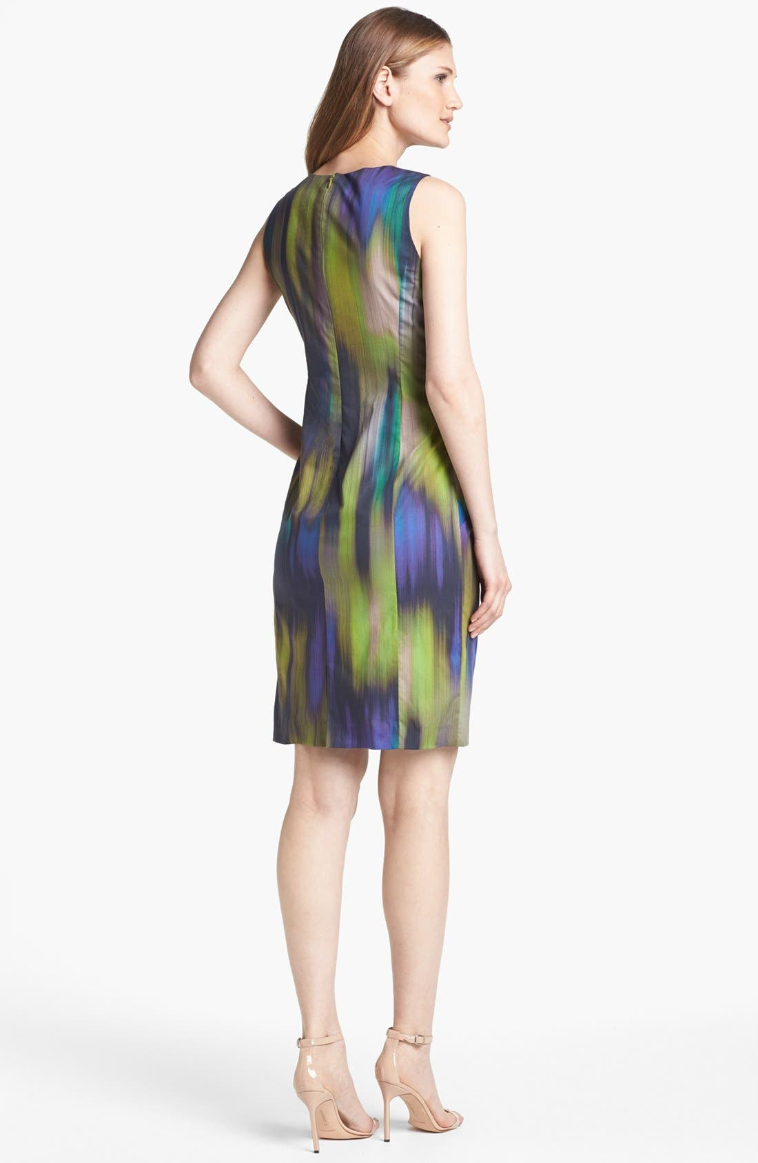 Alternate Image 2  - Lafayette 148 New York 'Laurel - Brushstroke Ikat' Dress