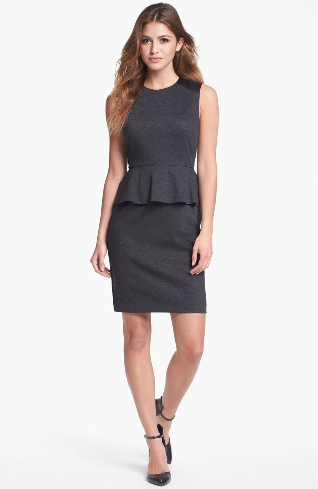 Main Image - Vince Camuto Sleeveless Peplum Dress (Nordstrom Online Exclusive)