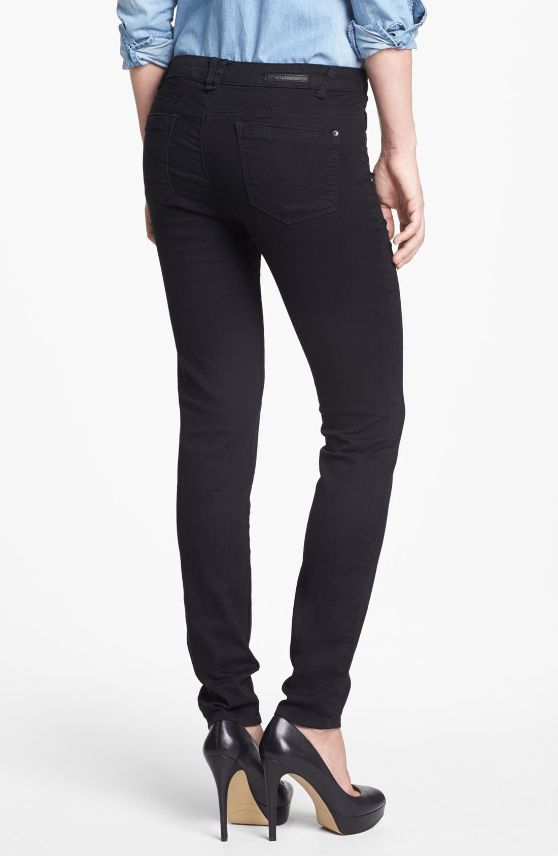 Alternate Image 2  - Wit & Wisdom Skinny Jeans (Black) (Nordstrom Exclusive)
