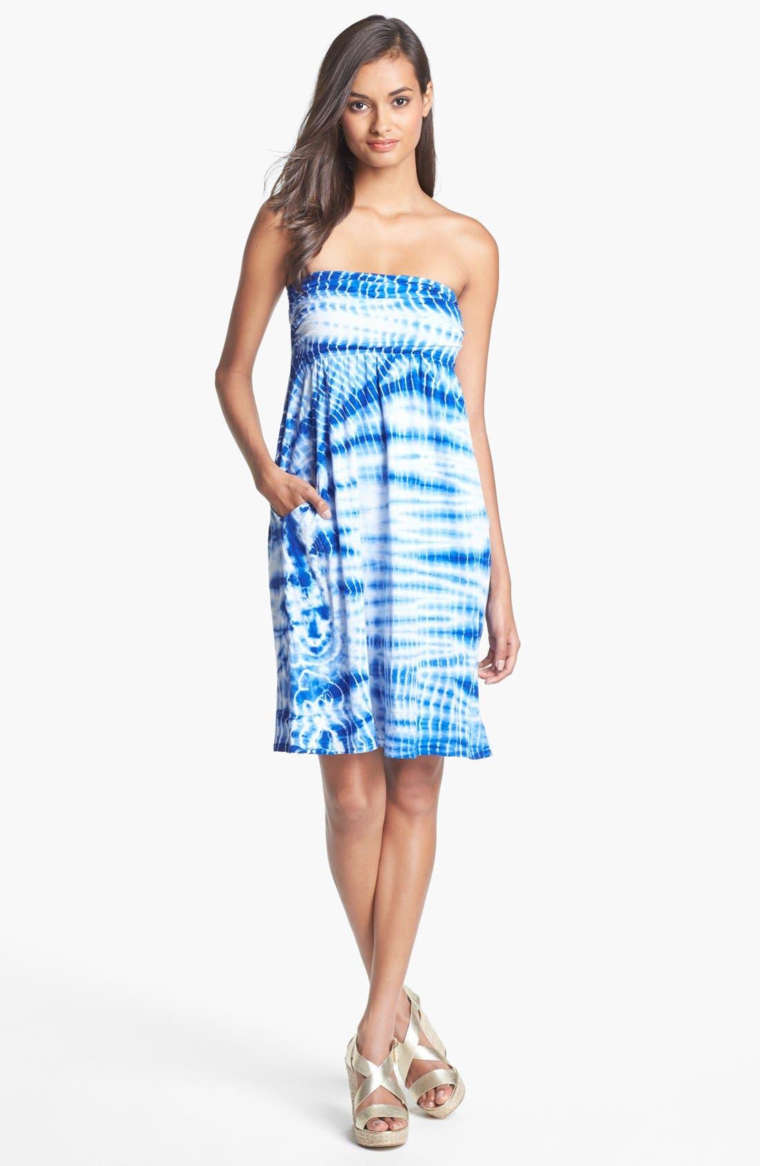 Main Image - Velvet by Graham & Spencer Tie Dye Tube Dress