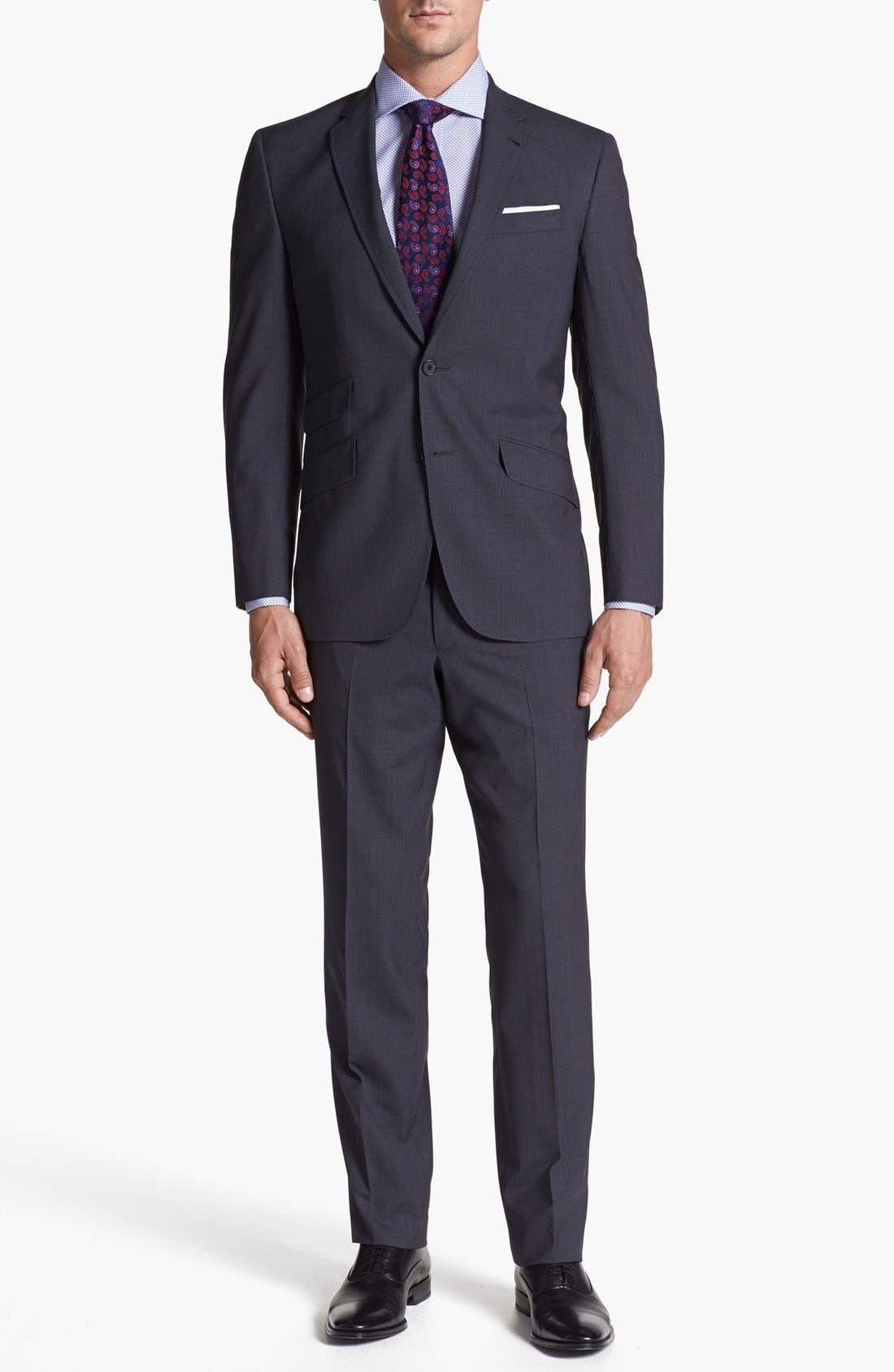 Alternate Image 1 Selected - Ted Baker London 'Jim' Pinstripe Wool Suit