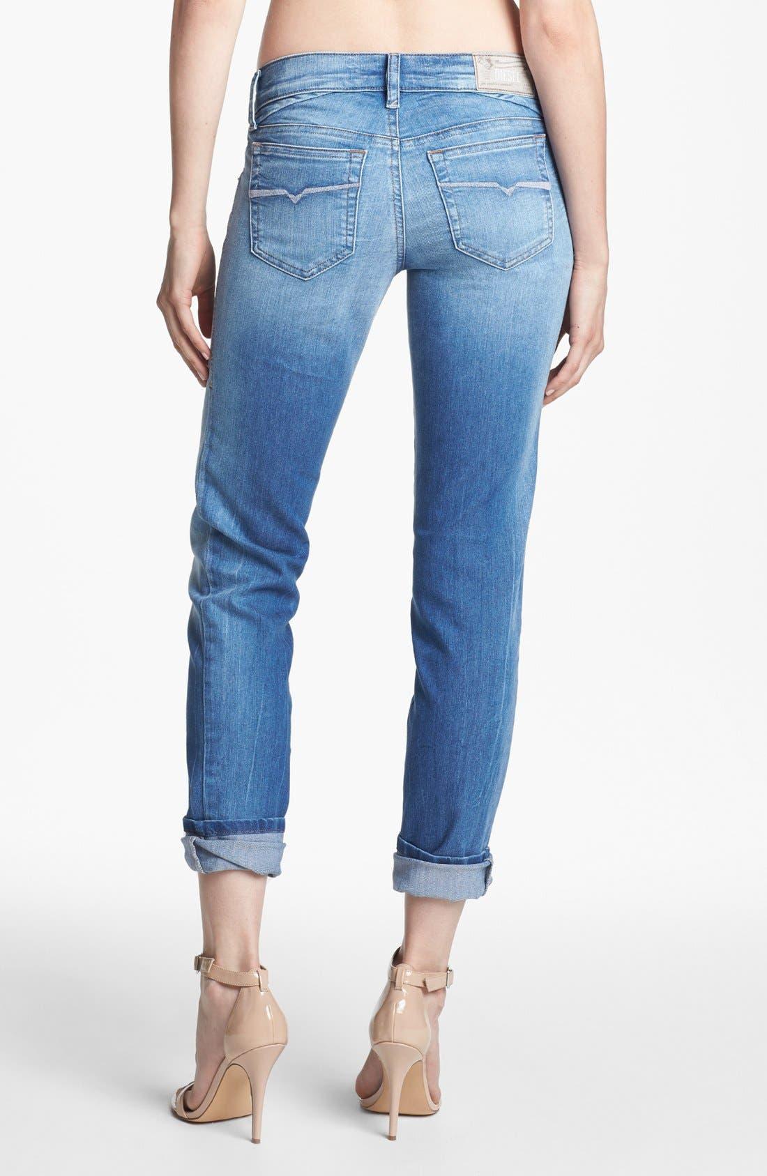 Alternate Image 2  - DIESEL® 'Getlegg' Slim Skinny Jeans (Light Blue)