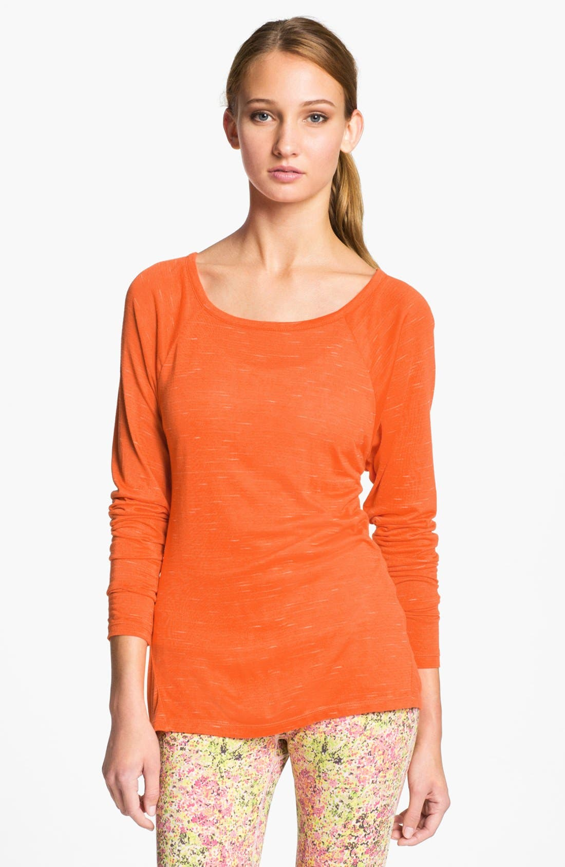 Alternate Image 2  - Unit-Y 'Expression' Drape Back Slub Knit Tee