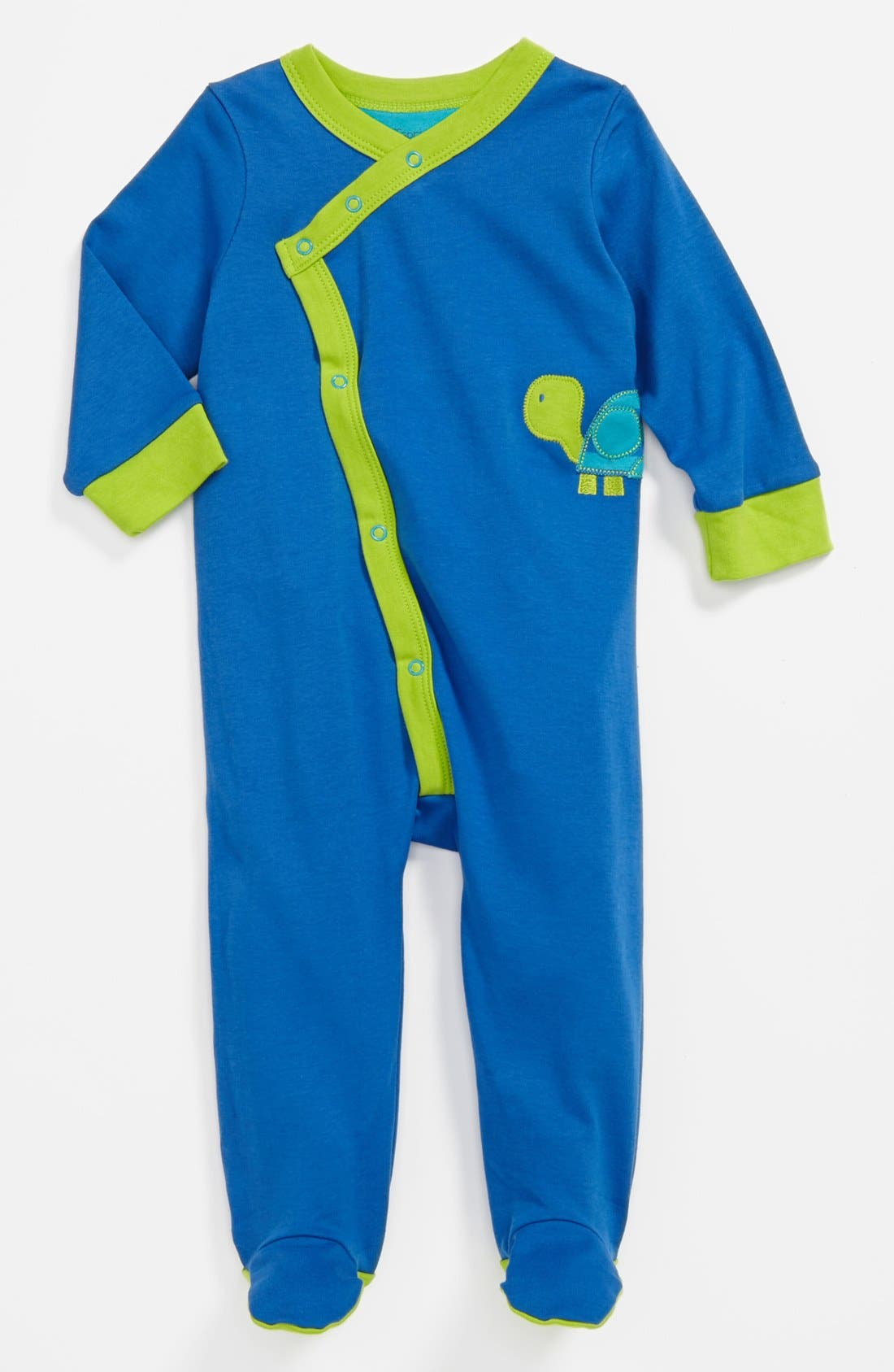 Main Image - Offspring 'Turtle' Footie (Baby Boys)