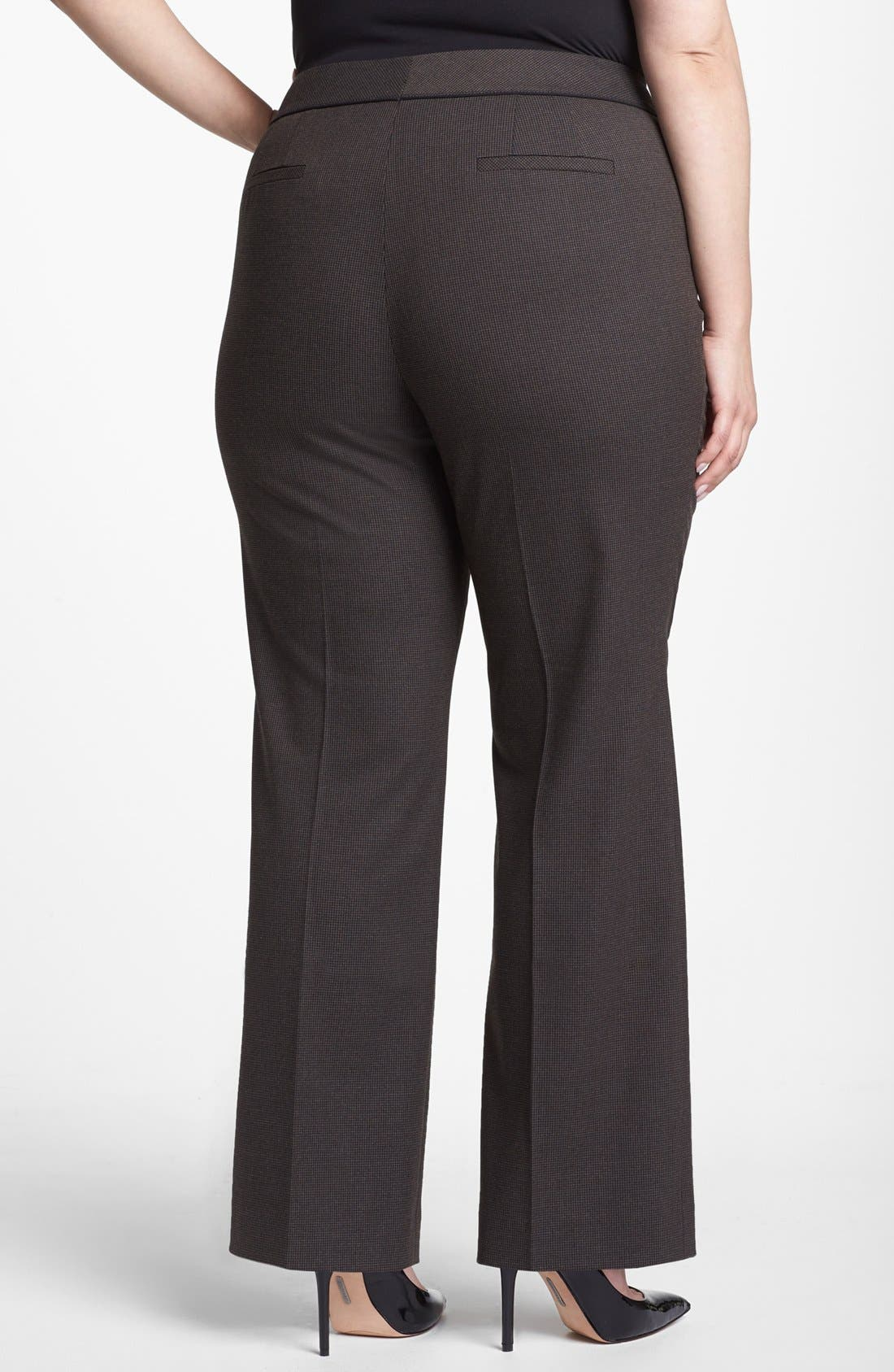 Alternate Image 2  - Sejour Micro Houndstooth Trousers (Plus Size)