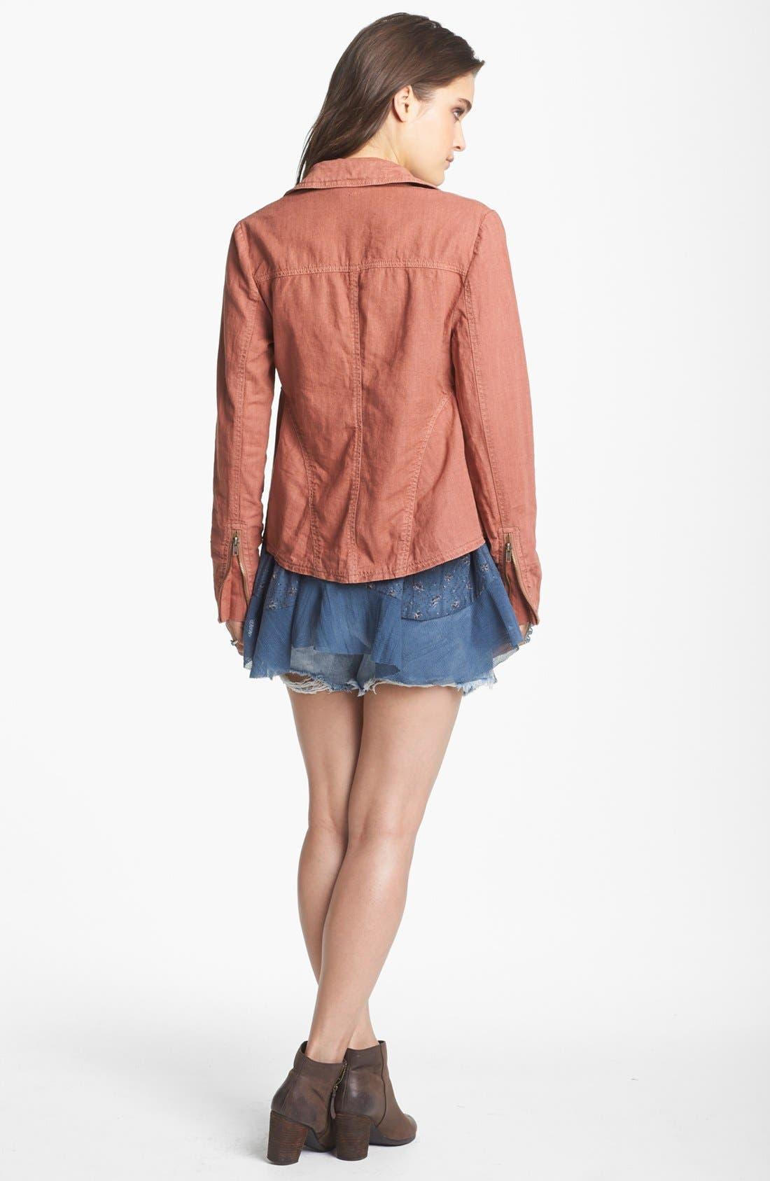 Alternate Image 2  - Free People Textured Linen Blend Jacket