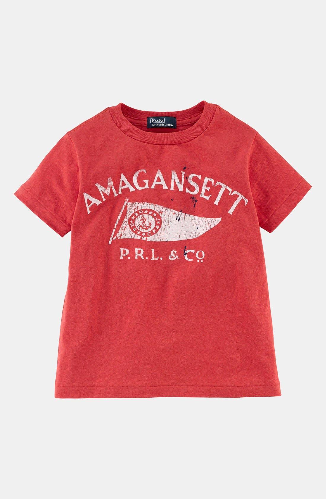 Alternate Image 1 Selected - Ralph Lauren Graphic T-Shirt (Toddler Boys)