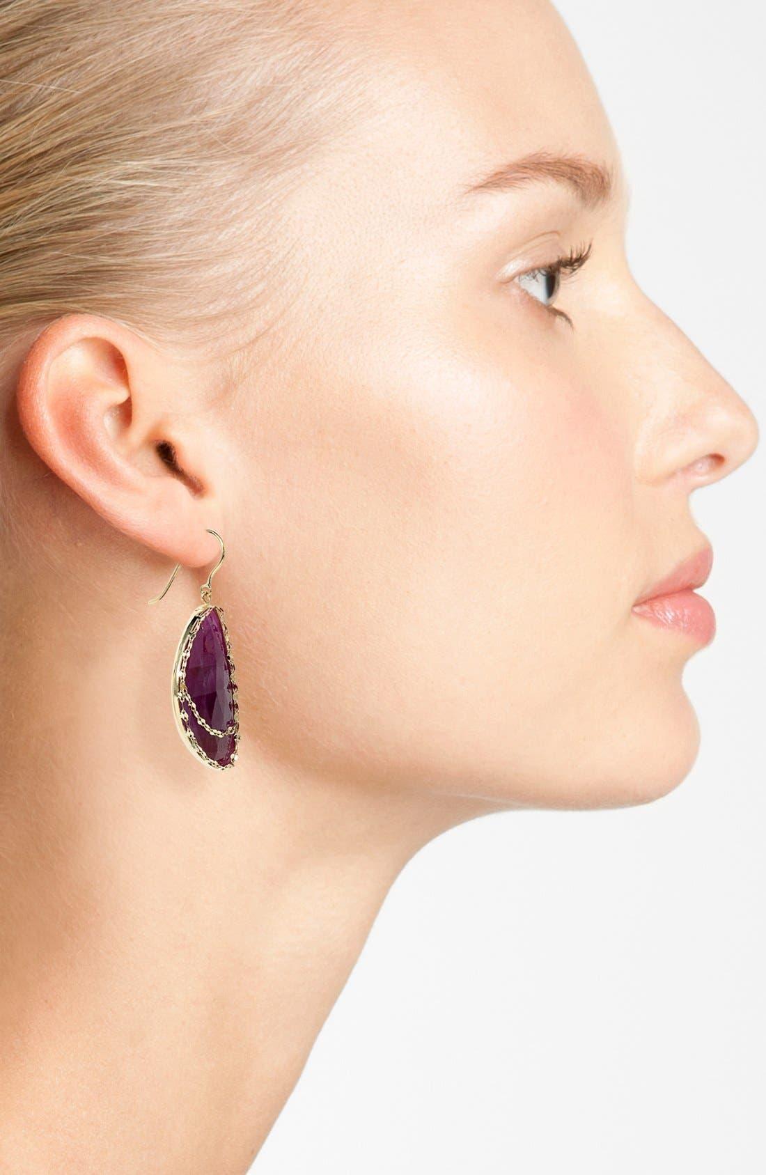 Alternate Image 2  - Lana Jewelry 'Stone Gold - Eden' Sapphire Drop Earrings