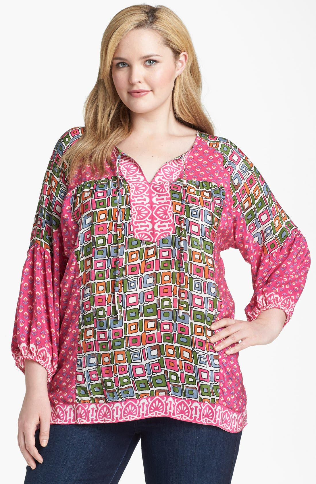 Alternate Image 1 Selected - Tolani 'Phoebe' Tunic (Plus Size)