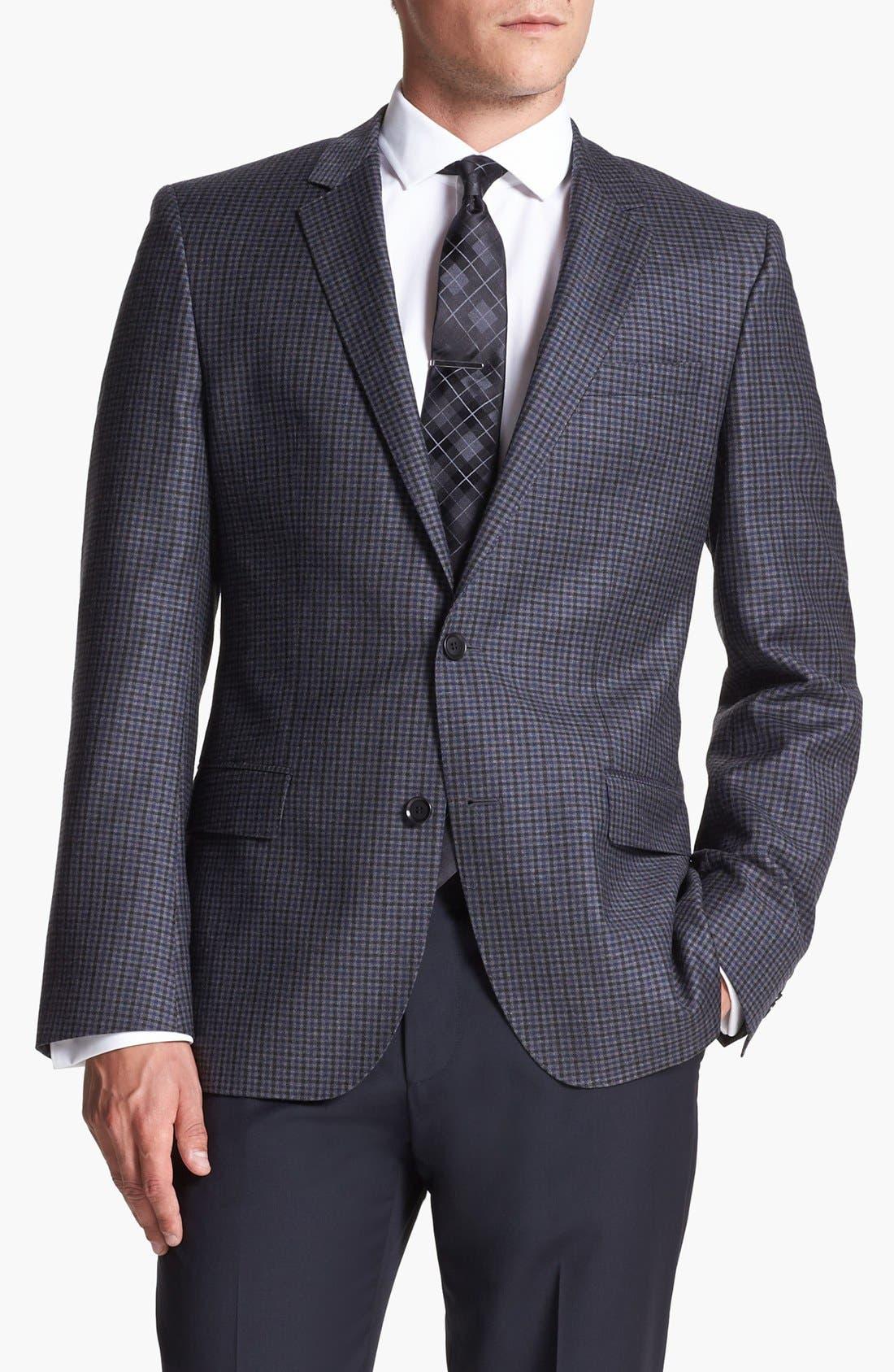 Alternate Image 4  - BOSS HUGO BOSS 'Hutch' Trim Fit Check Sportcoat