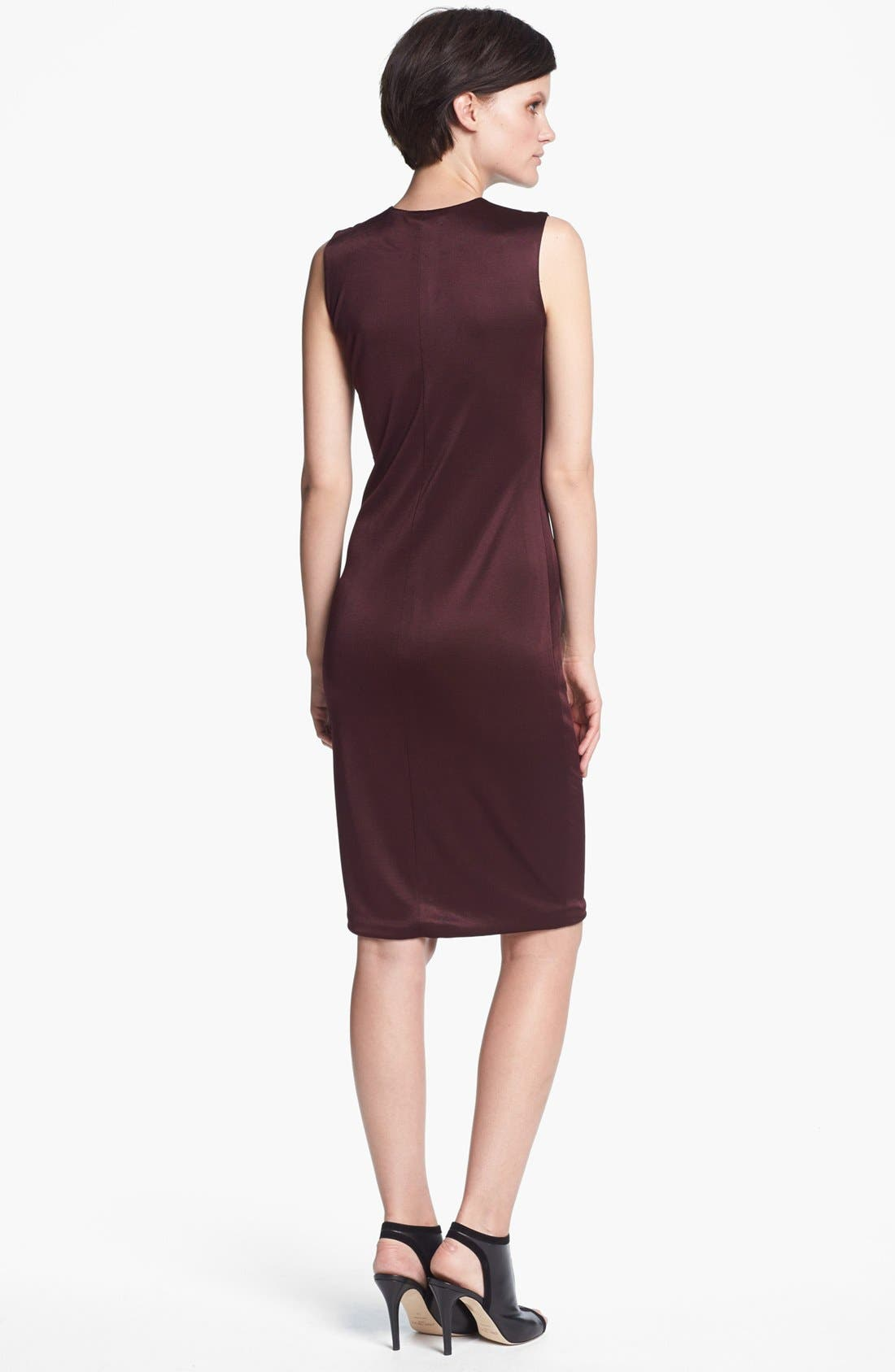 Alternate Image 2  - T by Alexander Wang Sleeveless Double Piqué Knit Dress