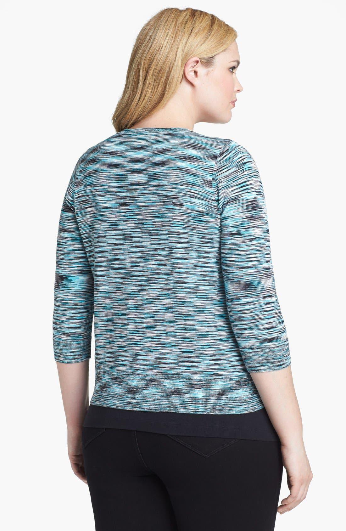 Alternate Image 2  - Sejour Space Dye Cardigan (Plus Size)